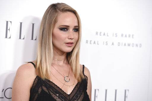 Jennifer Lawrence arrives at the 24th annual ELLE Women in Hollywood Awards at the Four Seasons Hotel Beverly Hills on Monday, Oct. 16, in Los Angeles.