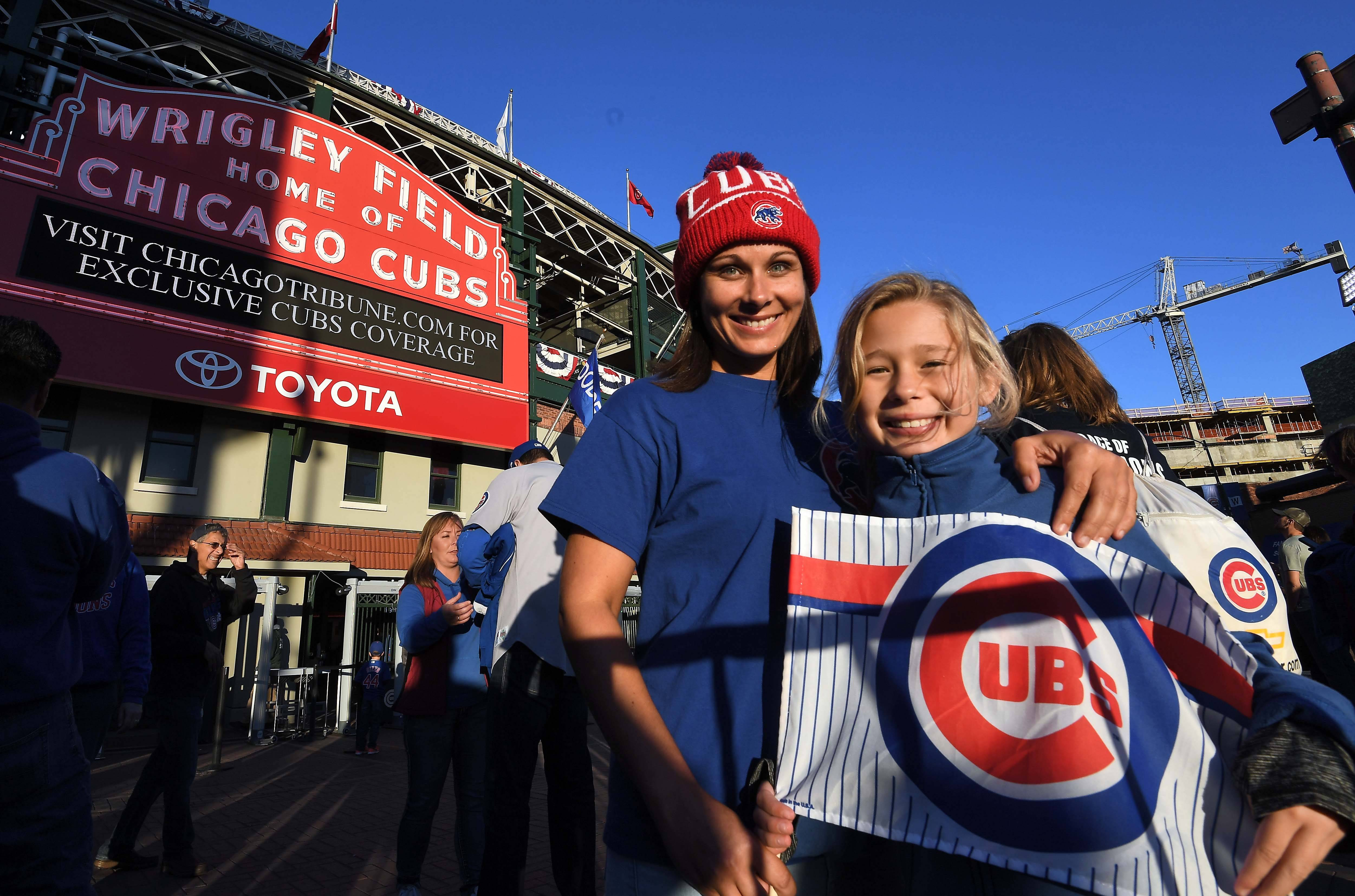 An odyssey that started at 4:30 a.m. Tuesday in their home in Kuttawa, Kentucky, required trips by car, Amtrak and L train to drop Crissy Johnson, and her daughter Trinity Taylor, 8, at Wrigley Field so they could root on the Chicago Cubs. They expect to catch some sleep on today's 6:15 a.m. train back to Carbondale.