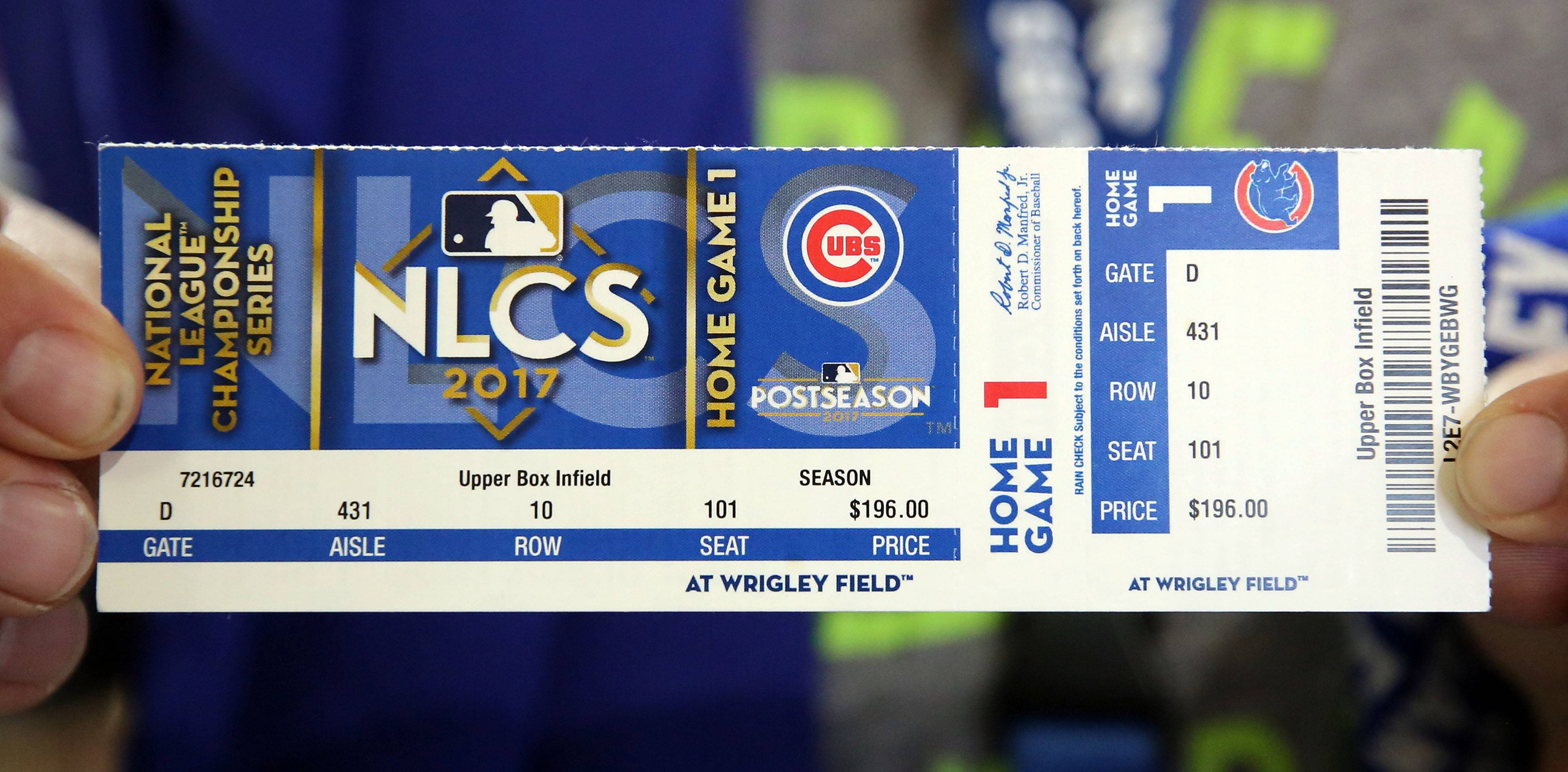 Cubs playoff ticket prices the lowest in 3 years