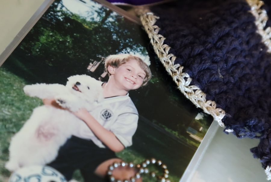As a boy, animal lover Lee Cutler of Buffalo Grove posed with his dog for his soccer photo. That photo and his favorite yarmulke are among the keepsakes cherished by his mother, Beth Nathan, who still struggles with her son's mysterious disappearance 10 years ago at age 18.