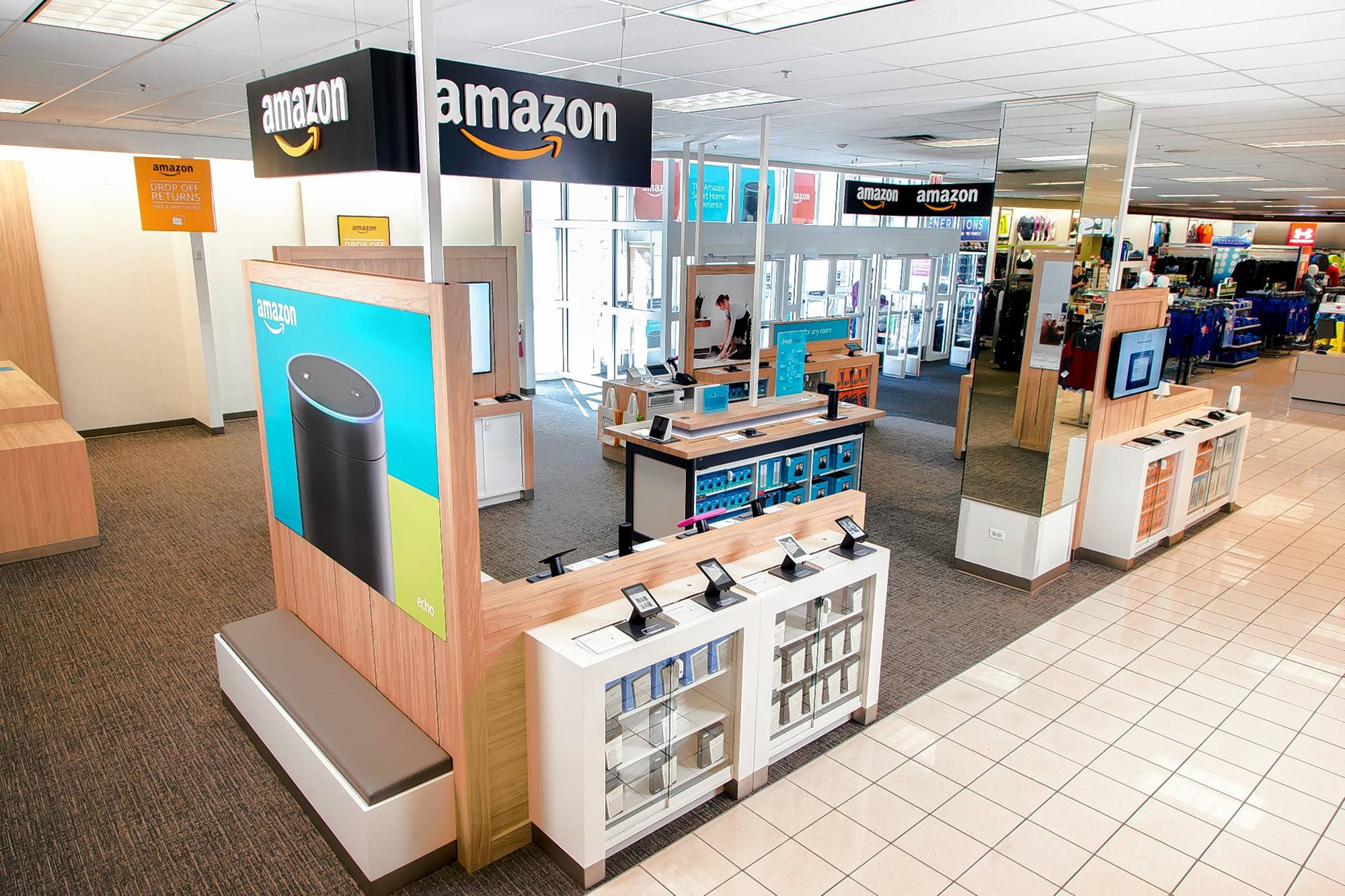 Kohl's launched Amazon return areas in a handful of stores, including Elmhurst and Tinley Park. They will look like the Kohl's Bucktown Store in Chicago.