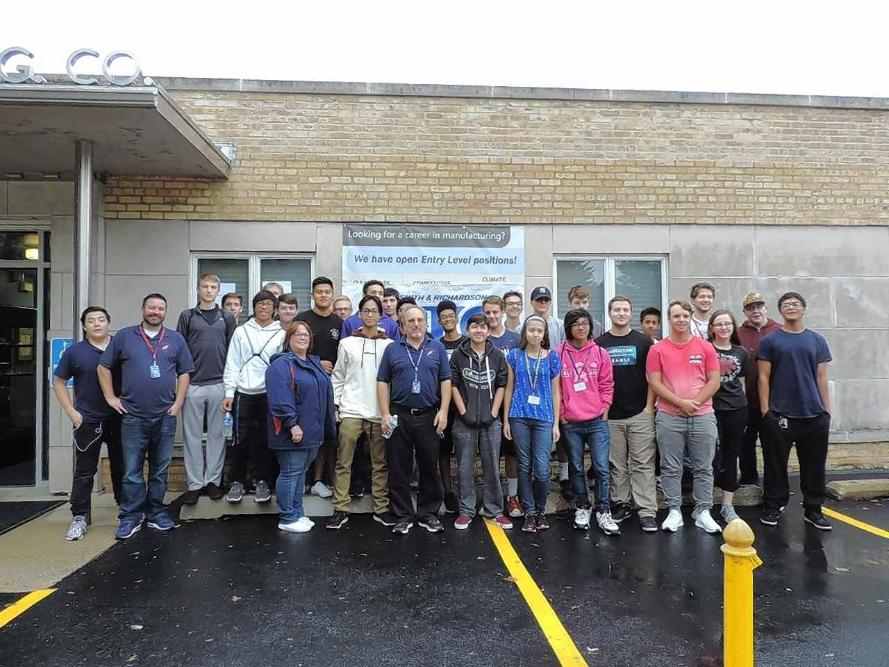 Students from area high schools participate in activities at Smith & Richardson Inc. in Geneva.