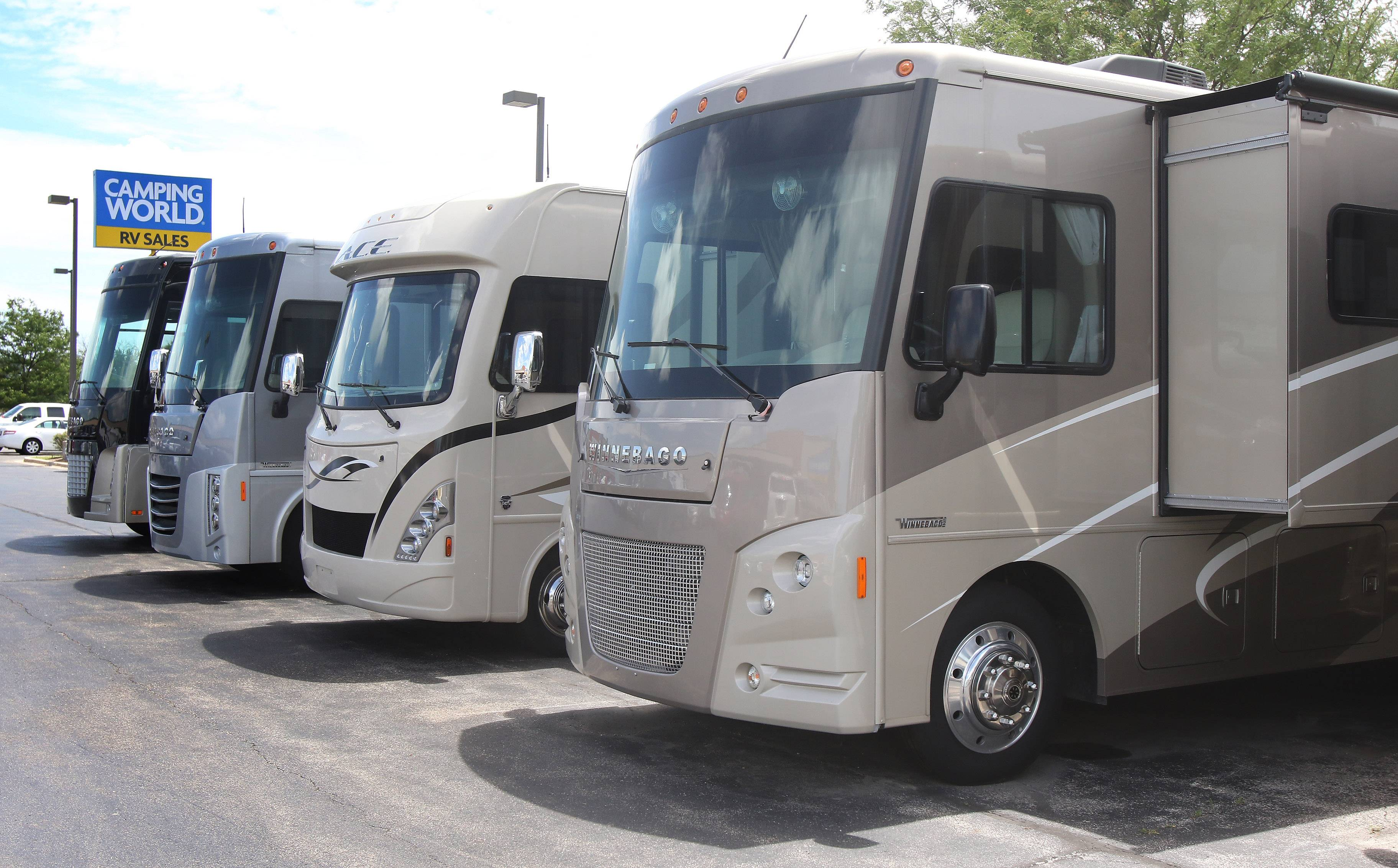 Recreational vehicles at Camping World in Wauconda. CEO Marcus Lemonis turned Camping World into a multibillion-dollar RV company nationwide. The company is expanding to Pittsburgh.