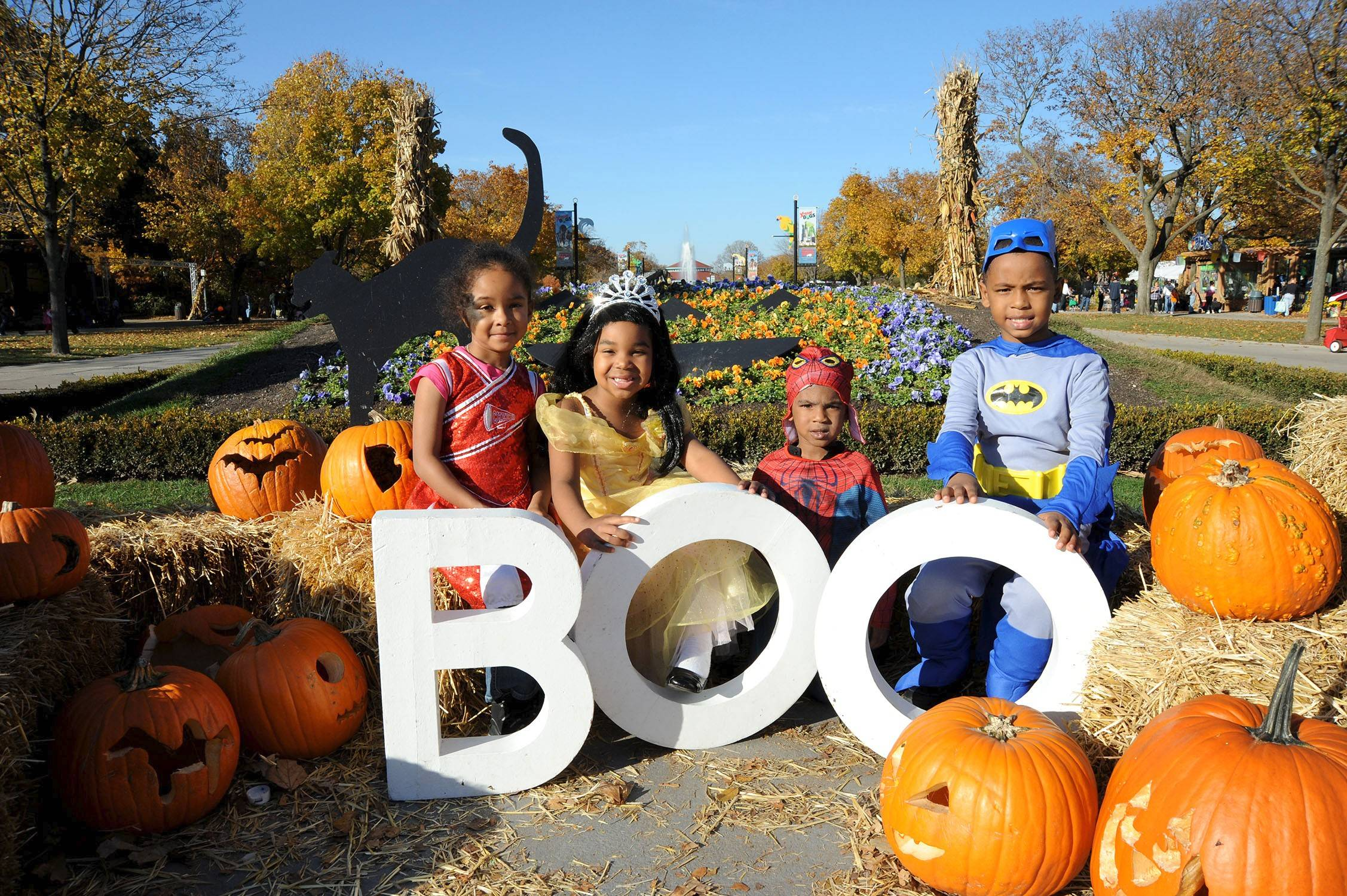 "Kids can dress in their Halloween finest for the costume parade at Brookfield Zoo's annual ""Boo! at the Zoo"" festival."