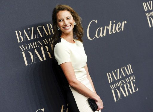 FILE - In this Nov. 12, 2014 file photo, model Christy Turlington Burns attends the Panthere de Cartier Collection event in New York. Turlington Burns tells Women's Wear Daily that sexual harassment and mistreatment of models was always widely known. In the interview published Wednesday, she said her mother was often with her in her younger, earlier days in the business. (Photo by Evan Agostini/Invision/AP, File)