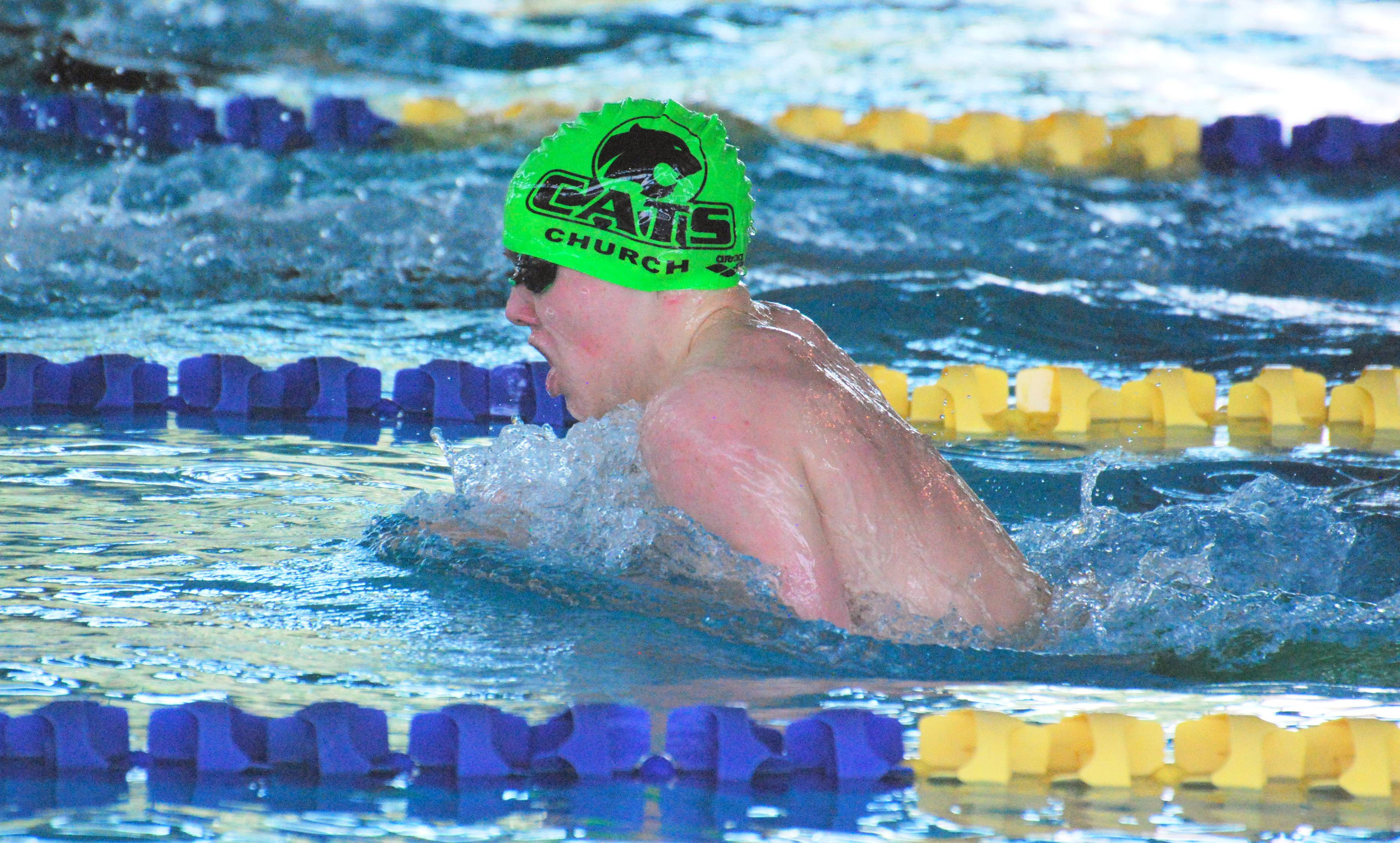 Josh Church competed with the CATS Aquatic swim club. Josh, 17, died last year, and a swim meet set for this weekend will honor his memory.