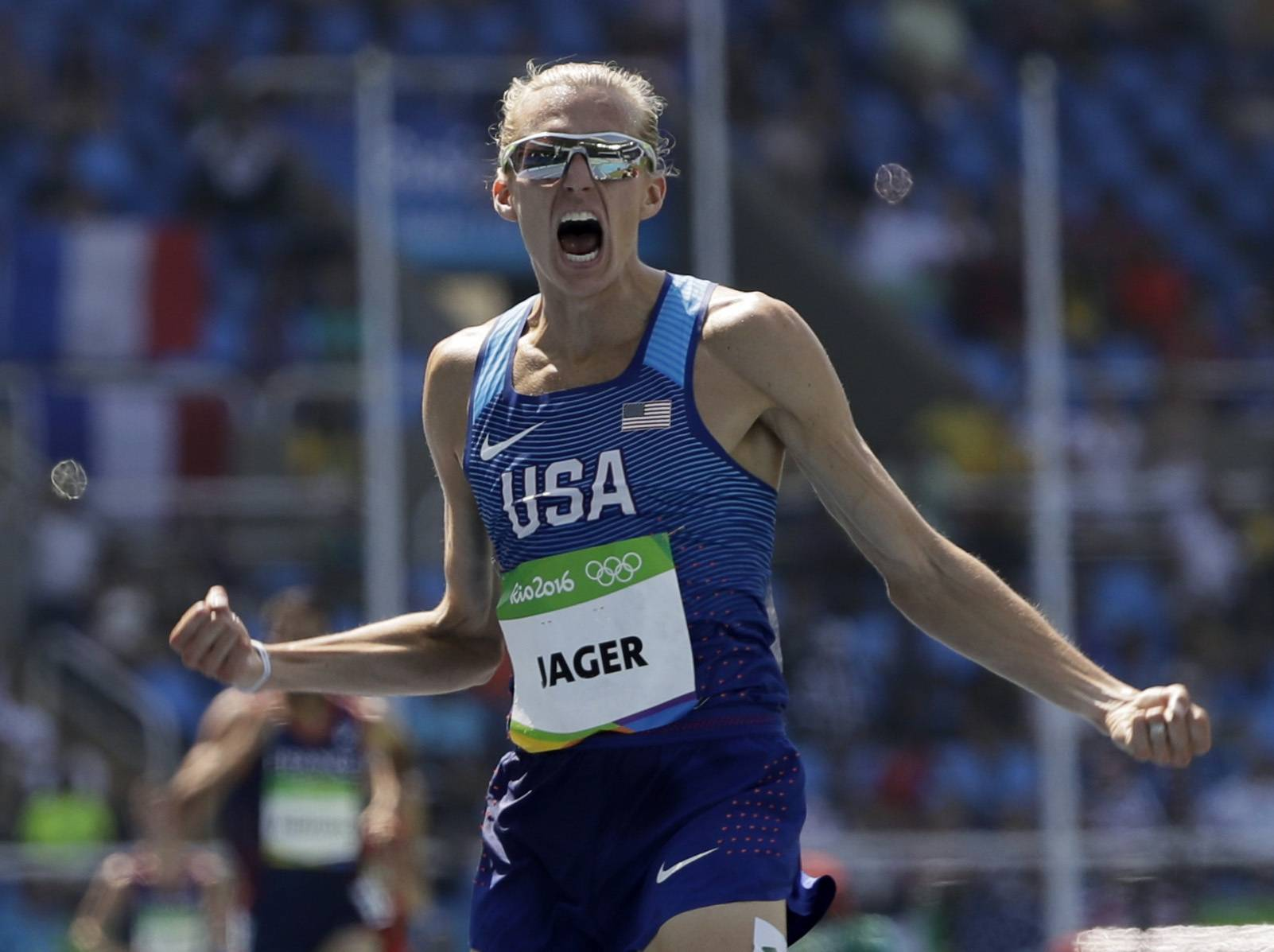 Algonquin native Evan Jager wins the silver medal in the men's 3,000-meter steeplechase final during the 2016 Summer Olympics in Rio de Janeiro, Brazil.