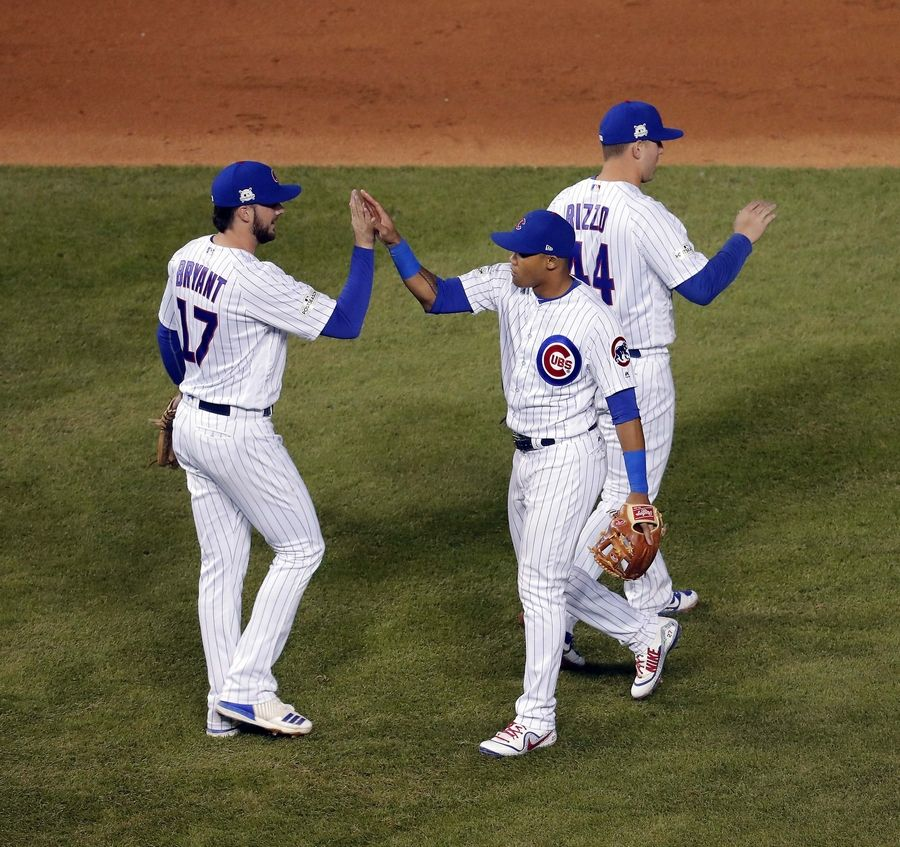 Images: Cubs defeat the Dodgers in game four of the NLCS