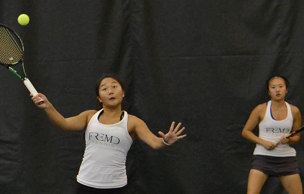 Doubles players Kellie, left, and Elsie Ha, are a key part of Fremd's history-making girls tennis team, which begins state tourney competition on Thursday.