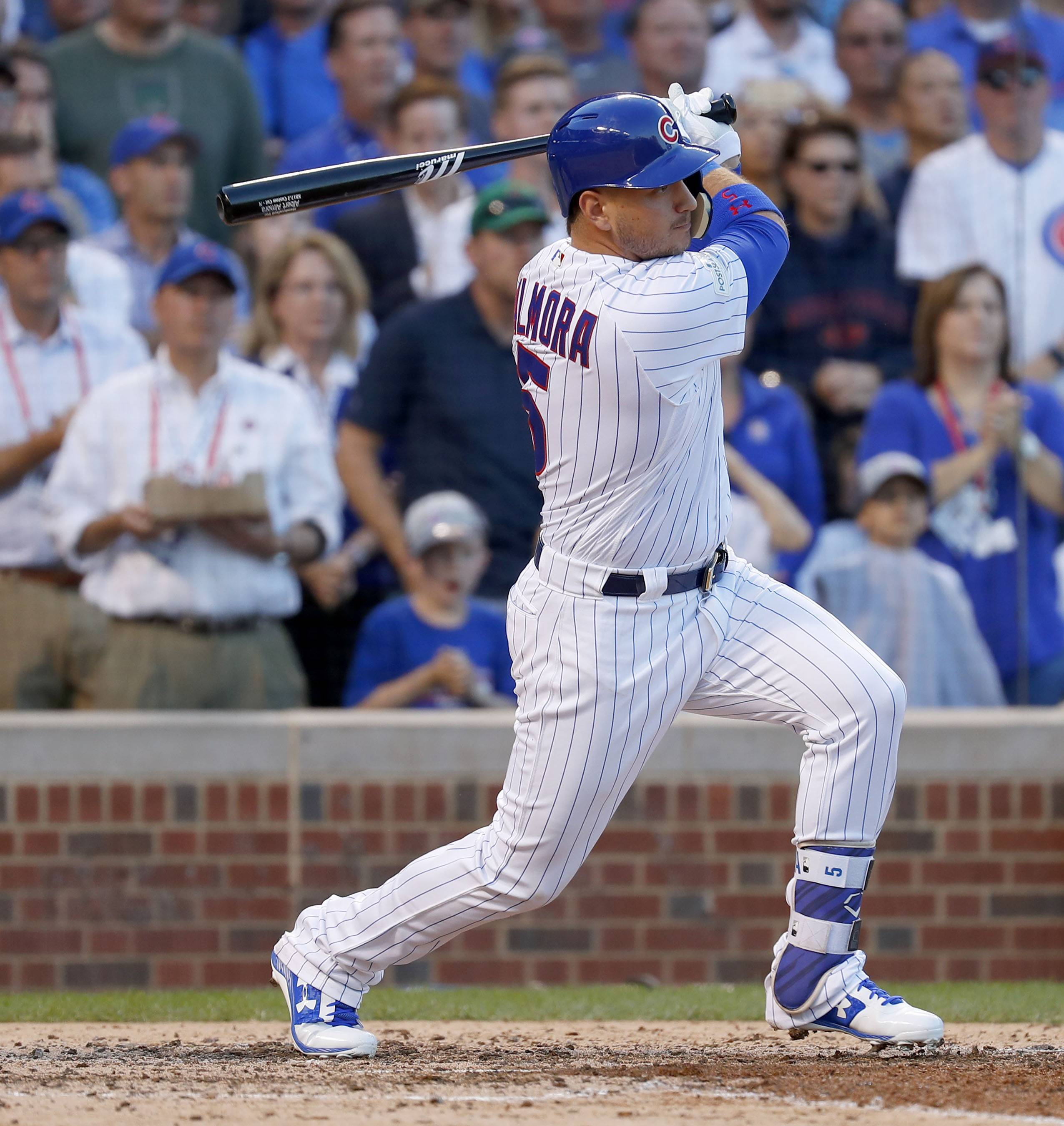 Center fielder Albert Almora Jr. will bat leadoff for the Chicago Cubs in Game 4 against the Los Angeles Dodgers.