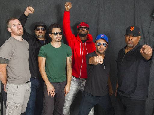 Prophets of Rage brought together Tim Commerford, left, B-Real, Brad Wilk, DJ Lord, Tom Morello and Chuck D.