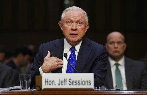 Attorney General Jeff Sessions testifies before the Senate Judiciary Committee on Capitol Hill in Washington, Wednesday, Oct. 18, 2017. (AP Photo/Carolyn Kaster)