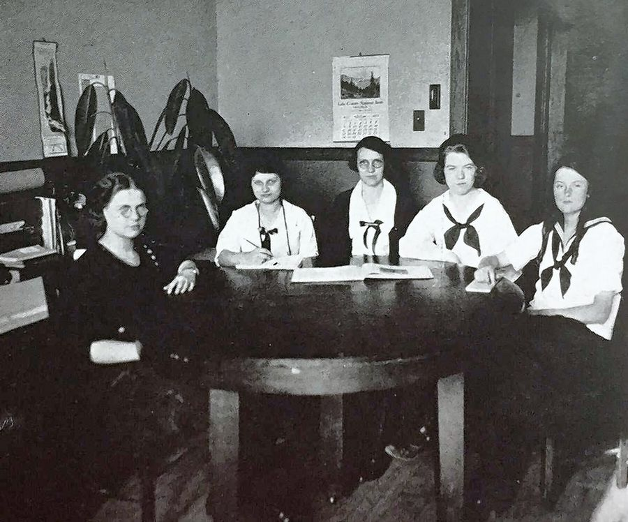 The 1922 Girls Athletic Association Council. The GAA ran athletic activities for girls until 1972.
