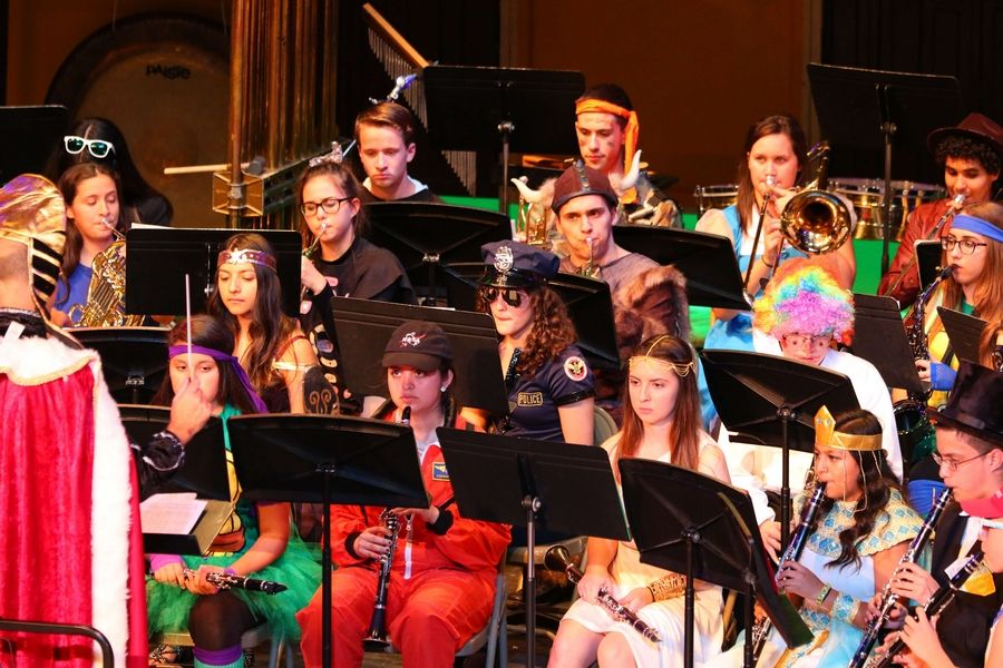 Performers are in costume, the stage is decorated and the music is in tune with the holiday during District 212's annual Halloween Instrumental Concert slated for Thursday, October 26 at East Leyden High School.Courtesy of Leyden High School District 212
