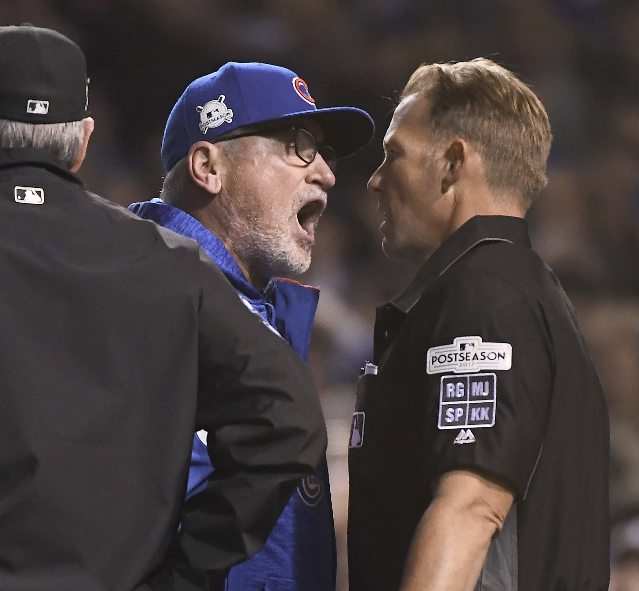 Chicago Cubs manager Joe Maddon said he has not heard from Major League Baseball about his ejection from Game 4 of the NLCS. Maddon also praised umpire Jim Wolf, who admitted he made a mistake in the game.