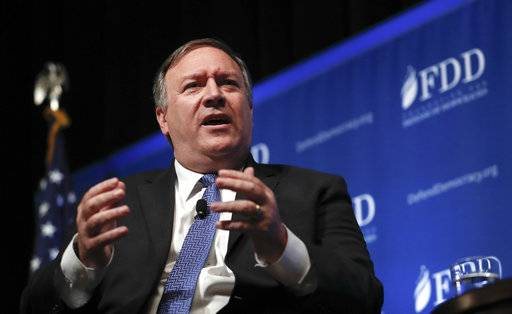 CIA Director Mike Pompeo speaks during the Foundation for Defense of Democracies (FDD) National Security Summit in Washington, Thursday, Oct. 19, 2017. Pompeo says the North Koreans are closer than they were five years ago and will be closer within five months unless the U.S. and its allies succeed in stopping the nuclear ambitions of leader Kim Jong Un. (AP Photo/Carolyn Kaster)