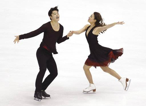 FILE - In this Friday, Feb. 19, 2016 file photo, Maia Shibutani and Alex Shibutani from the United States perform during the Ice Dance Free Dance program at the Taiwan ISU Four Continents Figure Skating Championships in Taipei. The icy road to the 2018 Winter Olympics begins in earnest with the Rostelecom Cup in Moscow, Saturday, Oct. 21, 2017. Perhaps the United States' best hopes for making the Grand Prix finals and also to medal at Pyeongchang are brother-sister combination Alex and Maia Shibutani. The two-time national ice dance champions make their season debut in Moscow. (AP Photo/Wally Santana, File)