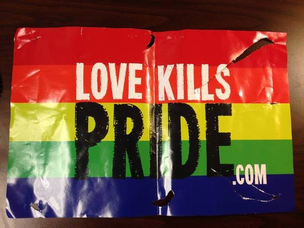 Geneva Mayor Love Kills Pride Sign Posters Are Cowards