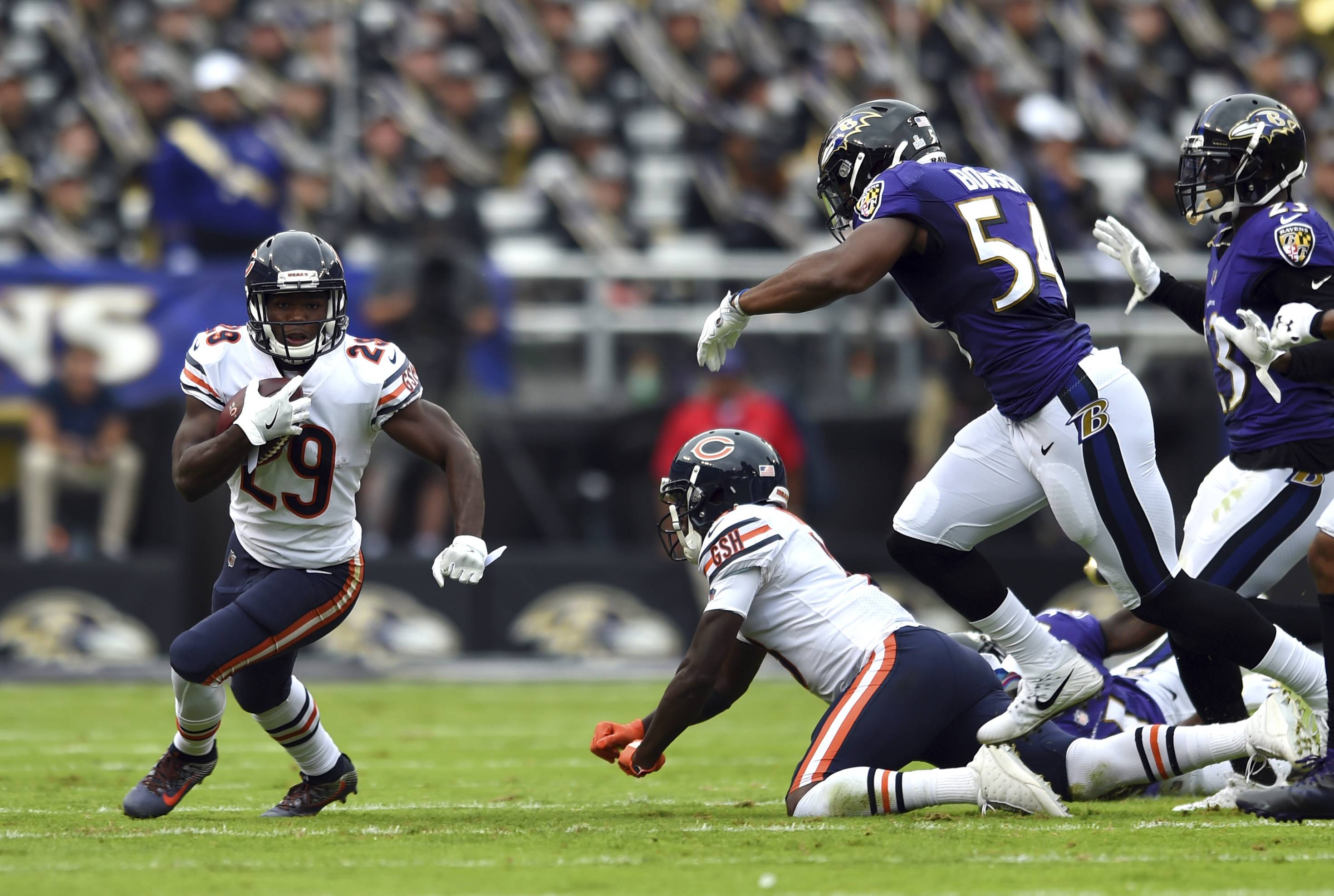 Last week against the Baltimore Ravens, the Chicago Bears ran for 231 yards. But this week they face a much stronger defense in the Carolina Panthers, who are No. 4 in total yards allowed this season.