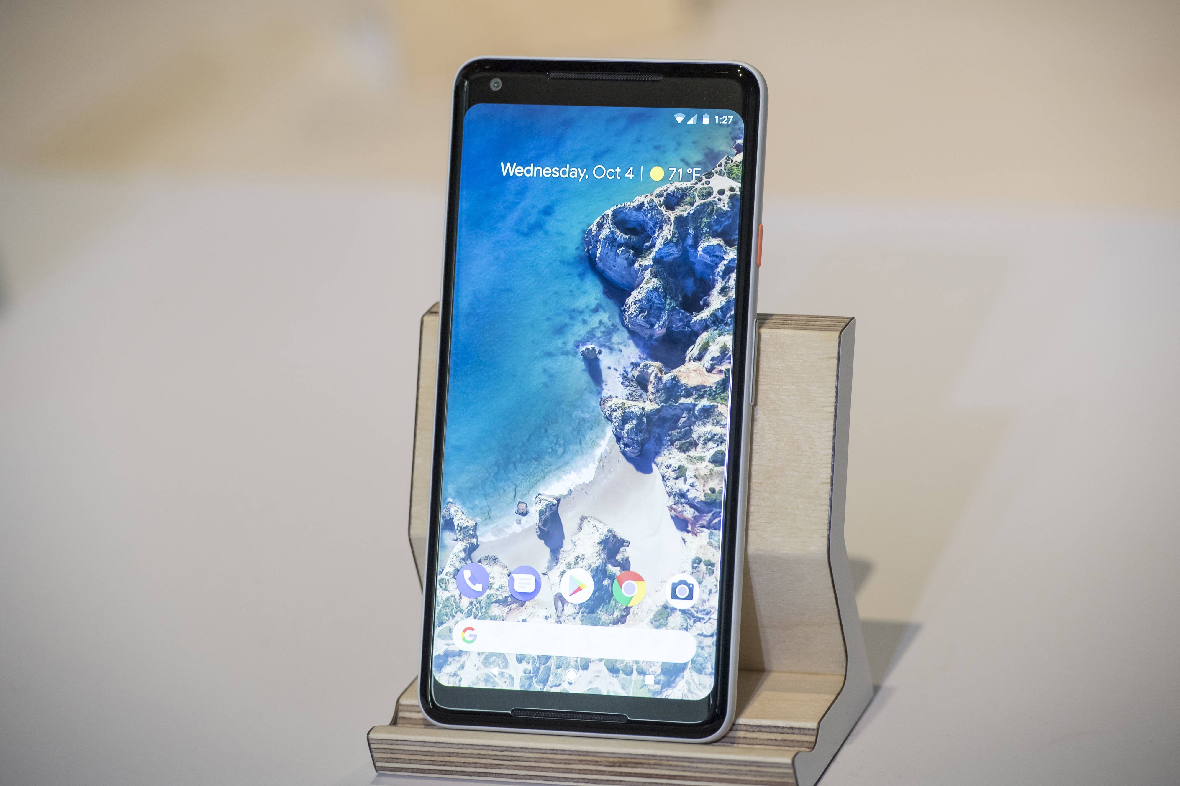 Google's 6-inch Pixel 2 XL smartphone has a base price of $849, $200 more than the 5-inch Pixel 2. But in terms of features, the two phones are almost identical.