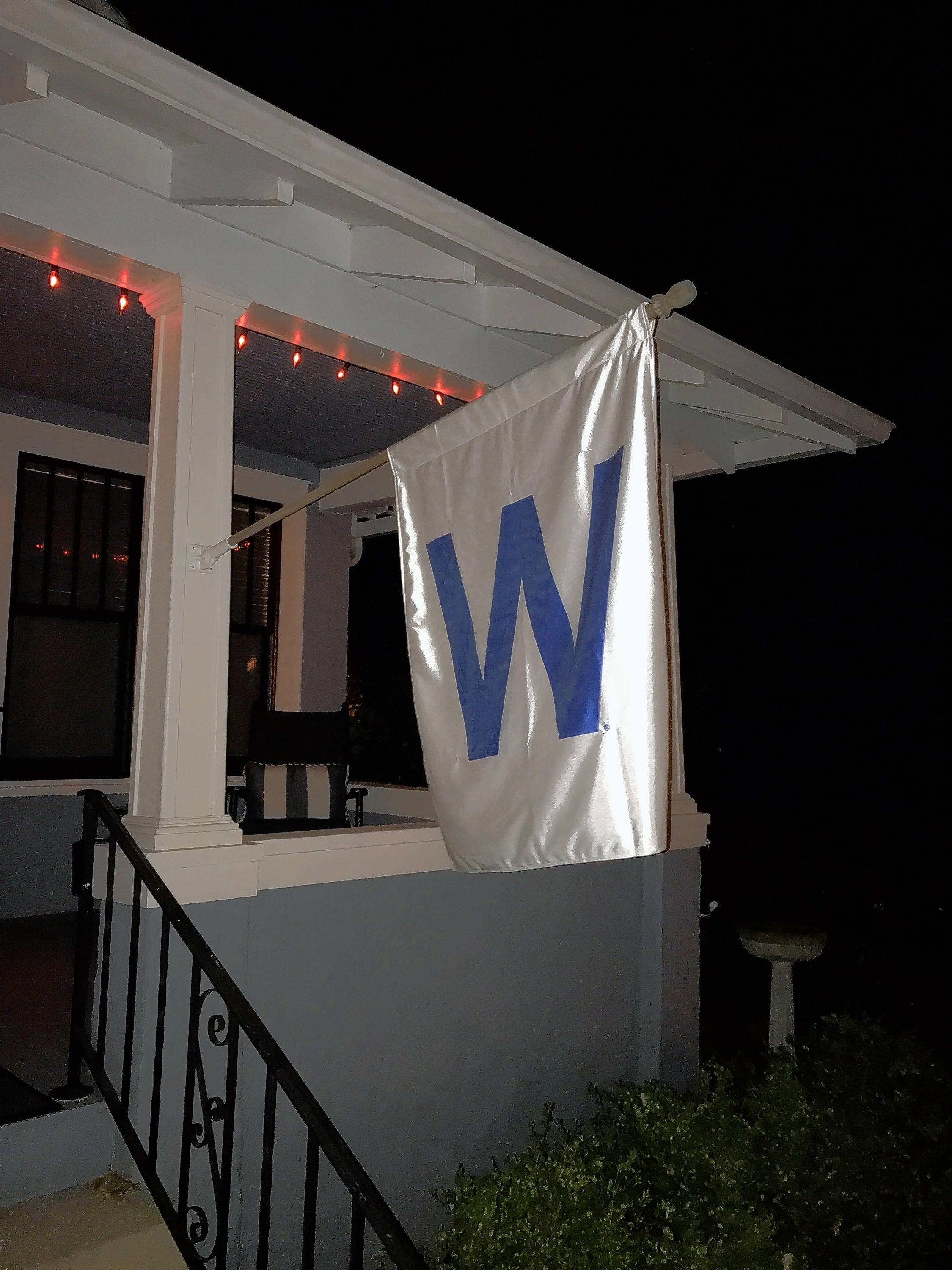 Alas, Feez's W Flag must come down for the winter.