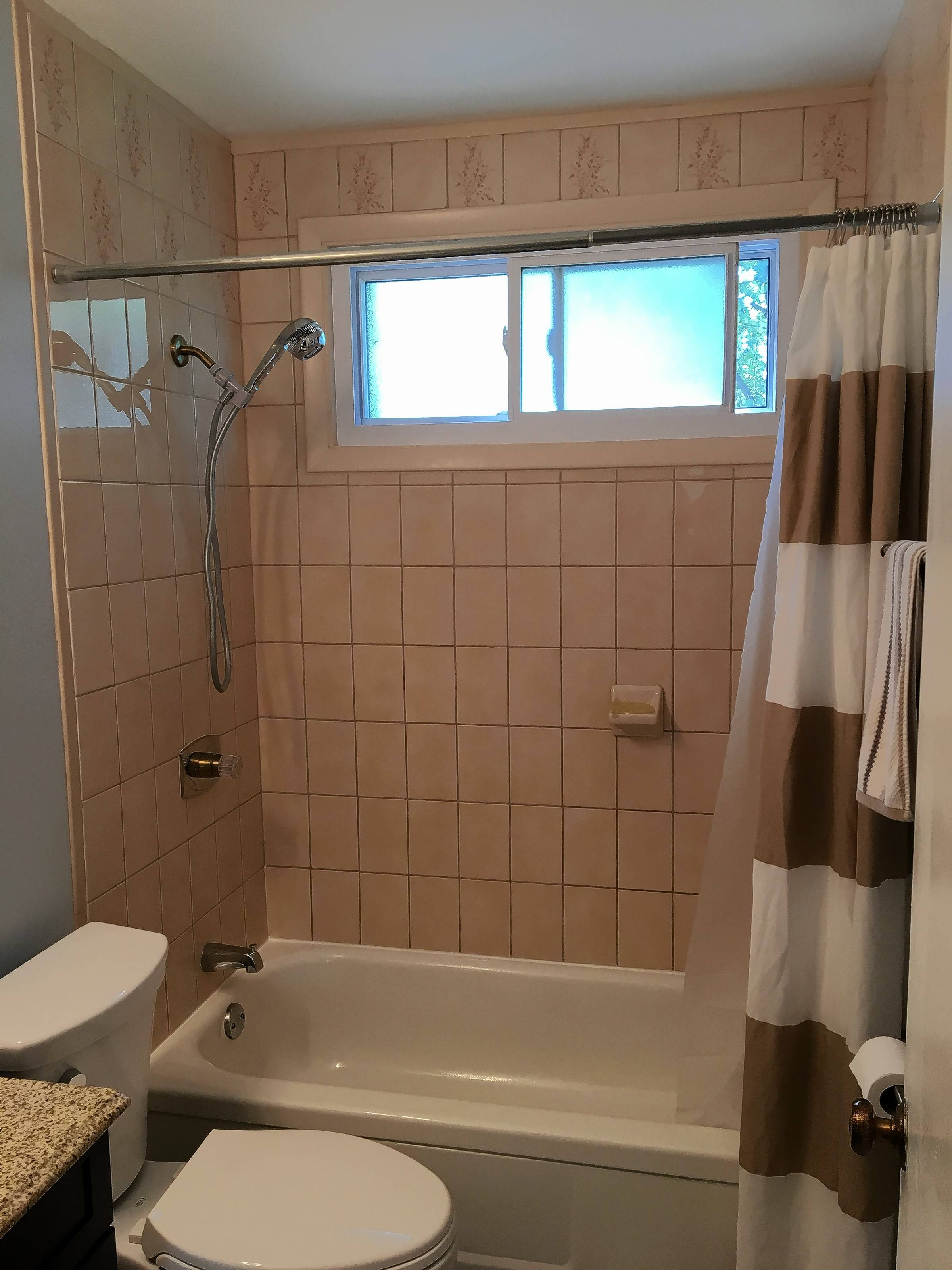 Laurie Salvano of Arlington Heights says her bathroom is original to the 48-year-old home and the bathroom is in need of an upgrade.