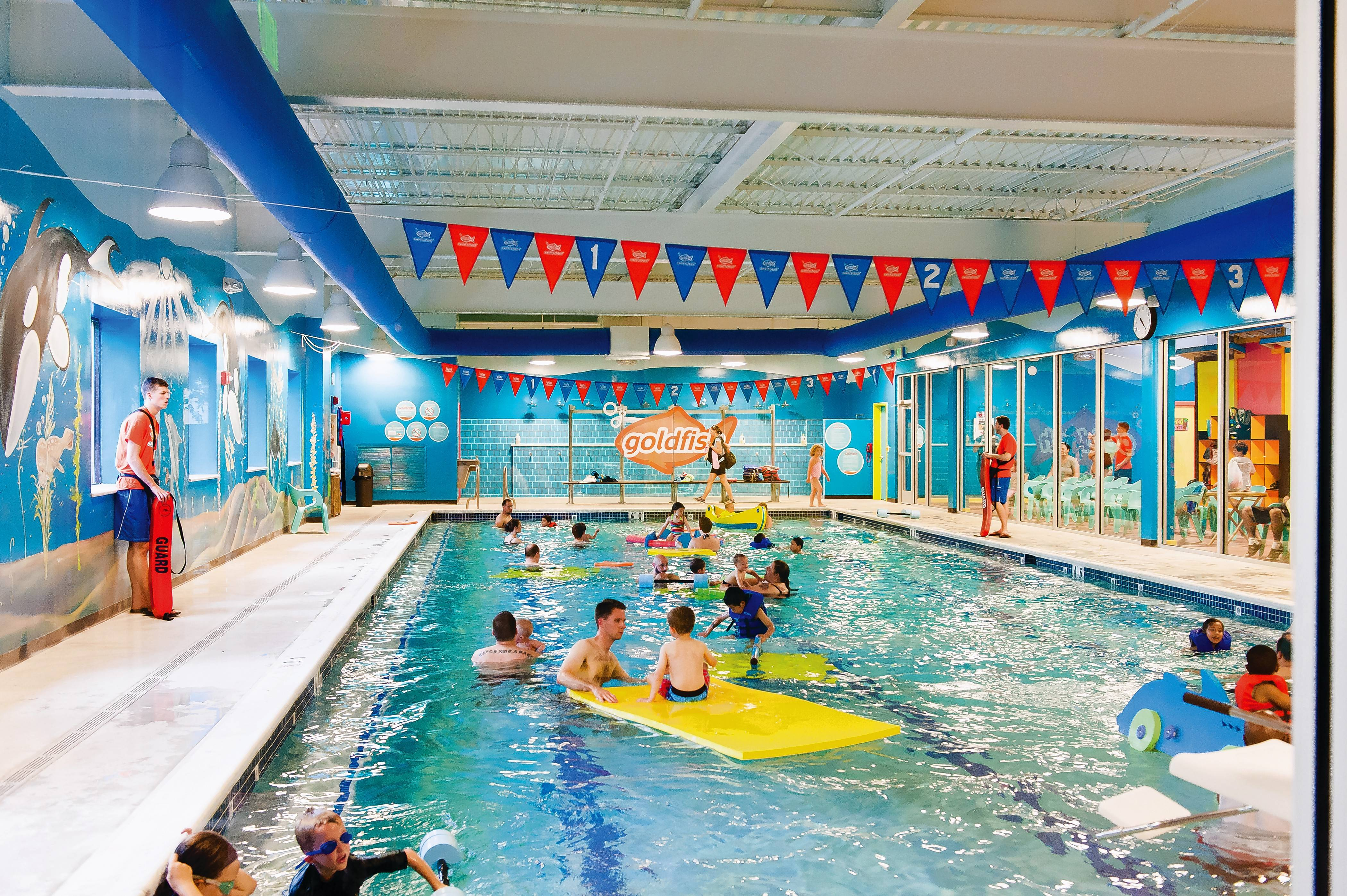 Goldfish Swim School, which has 11 schools in the Chicago area, is opening a new location this week in Arlington Heights.