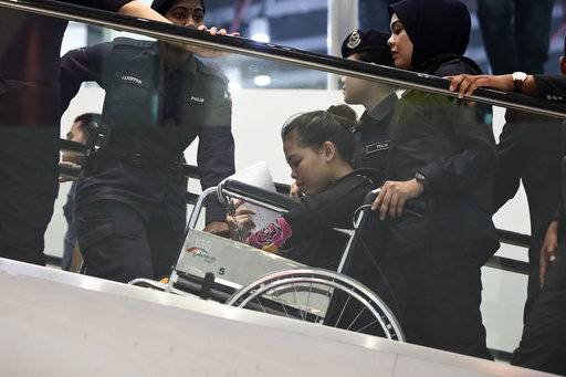 Women on trial visit airport where Kim Jong Nam was attacked