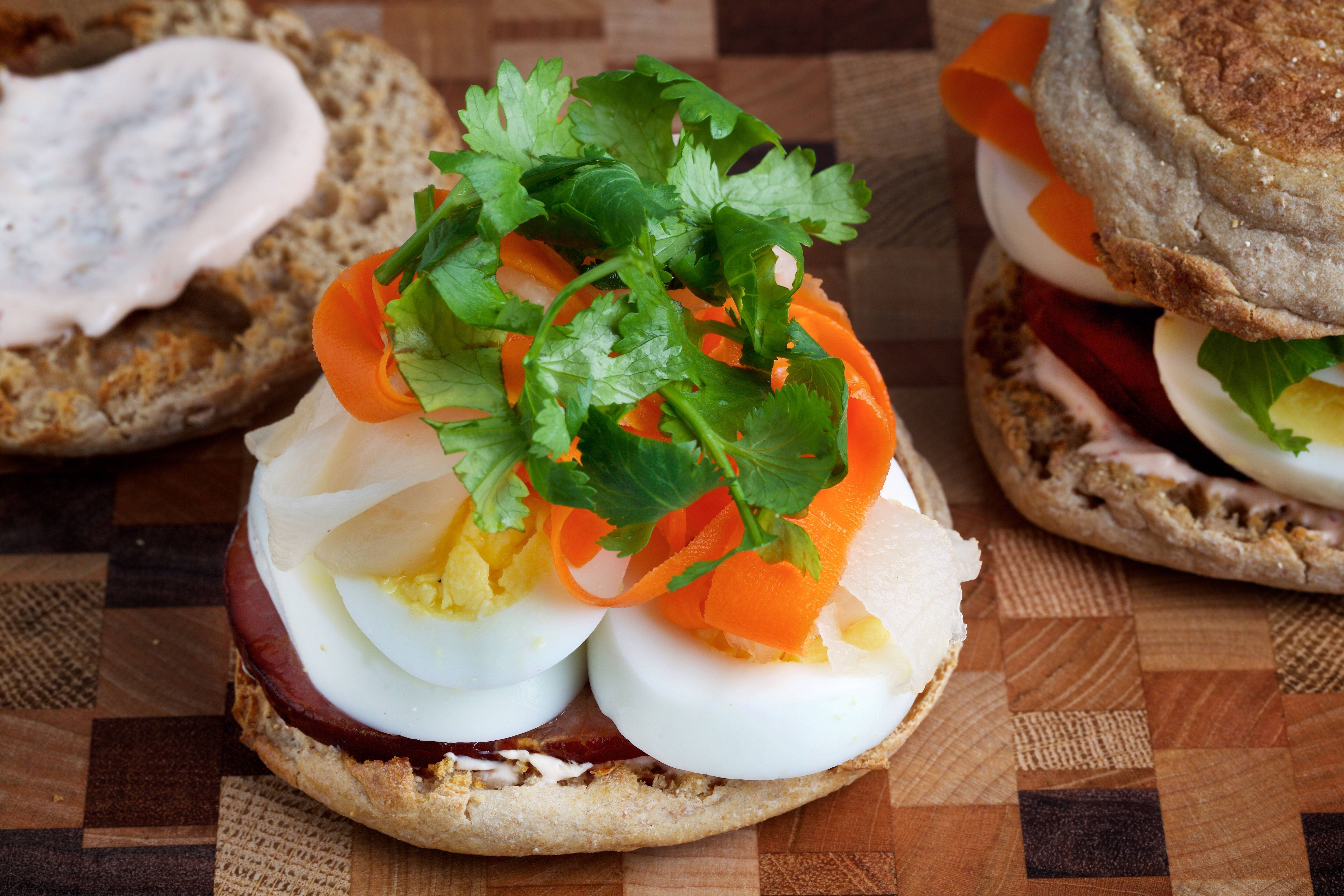 Make-Ahead Banh Mi Breakfast Sandwiches are inspired by the classic Asian sandwich.