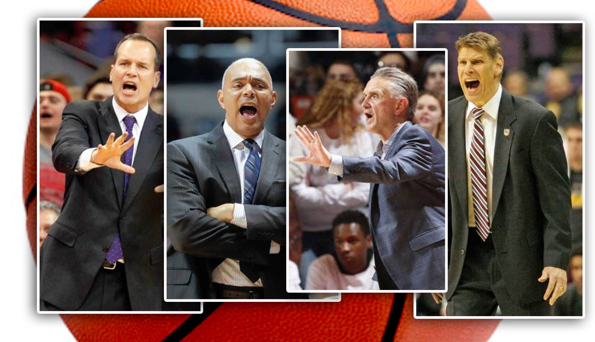 coaches from left, Northwestern's Chris Collins, DePaul's Dave Leitao, UIC's Steve McClain, and Loyola's Porter Moser lead their respective teams into the 2017-18 campaign.