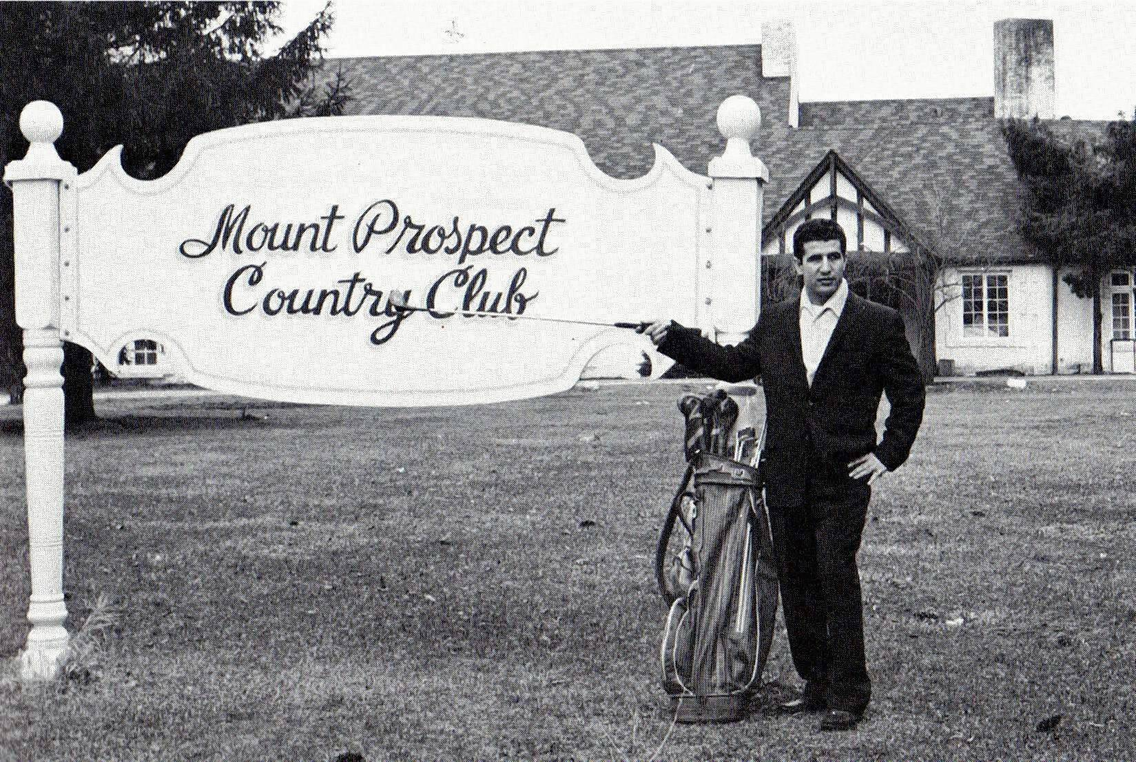 Reputed gangster Richard Hauff after he purchased the Mount Prospect golf course in 1958.
