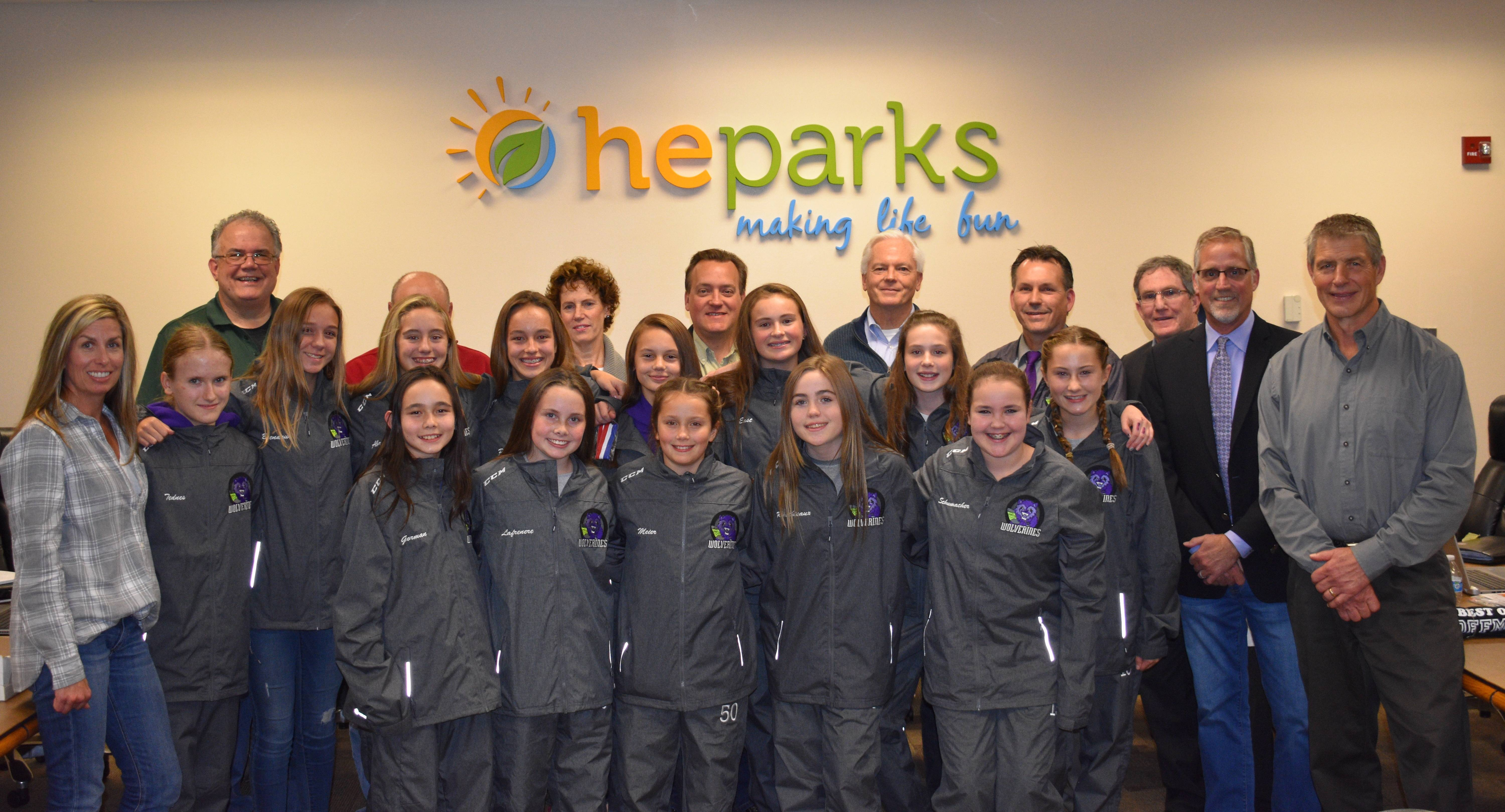 The Wolverines Girls Hockey team was named October's Best of Hoffman by the HE Parks Board of Commissioners because of the tremendous success, ranking number one in Illinois this month, and in the nation over the past months.smanisco@heparks.org
