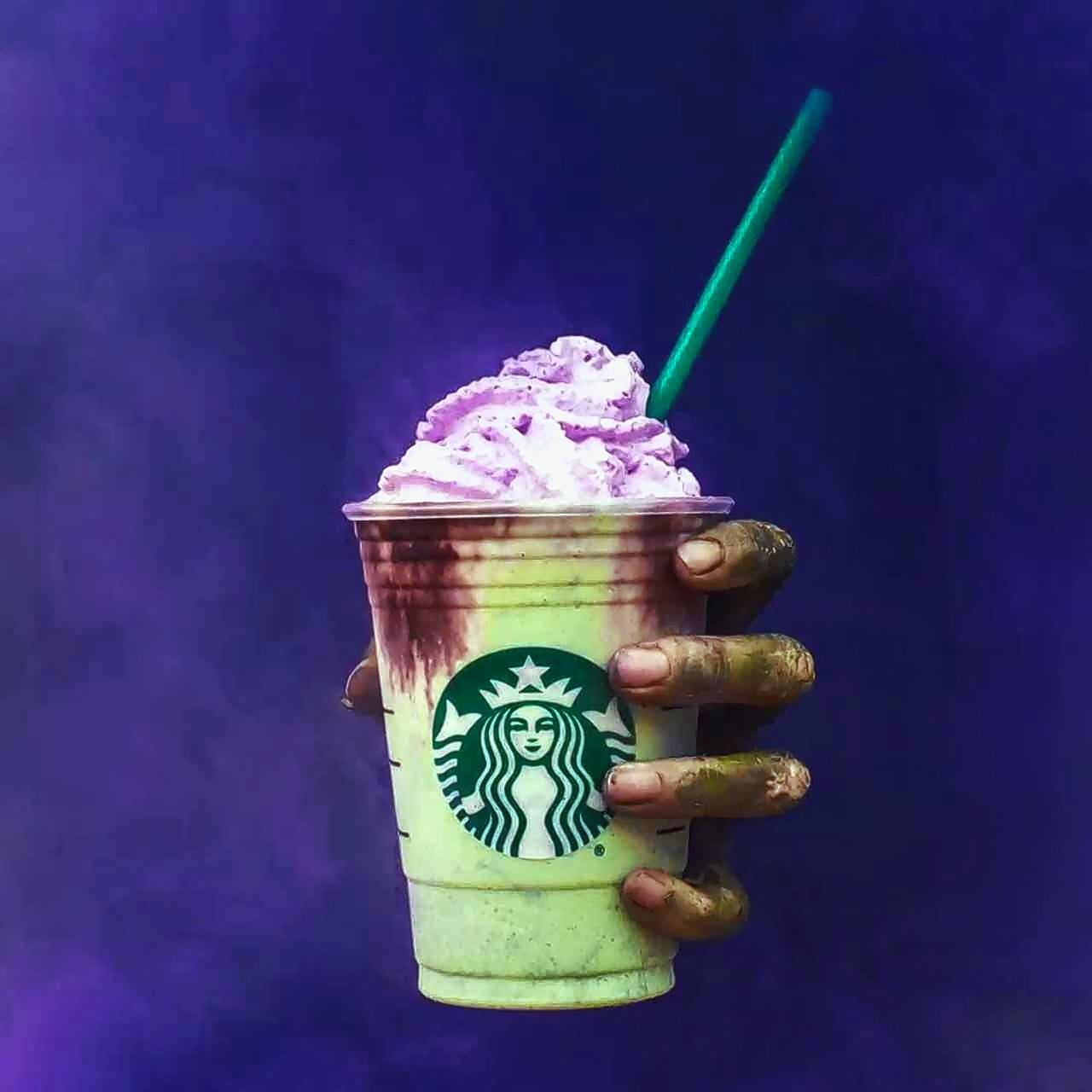 The colorful Zombie Frappuccino seems to have been designed for Instagram and Snapchat.