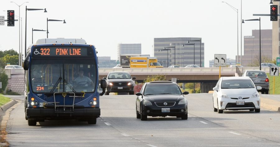 The main mass transit option for workers at the McDonald's campus is taking the Metra train to downtown Hinsdale, then a Pace bus for several miles, with a stop near Jorie Road in Oak Brook.