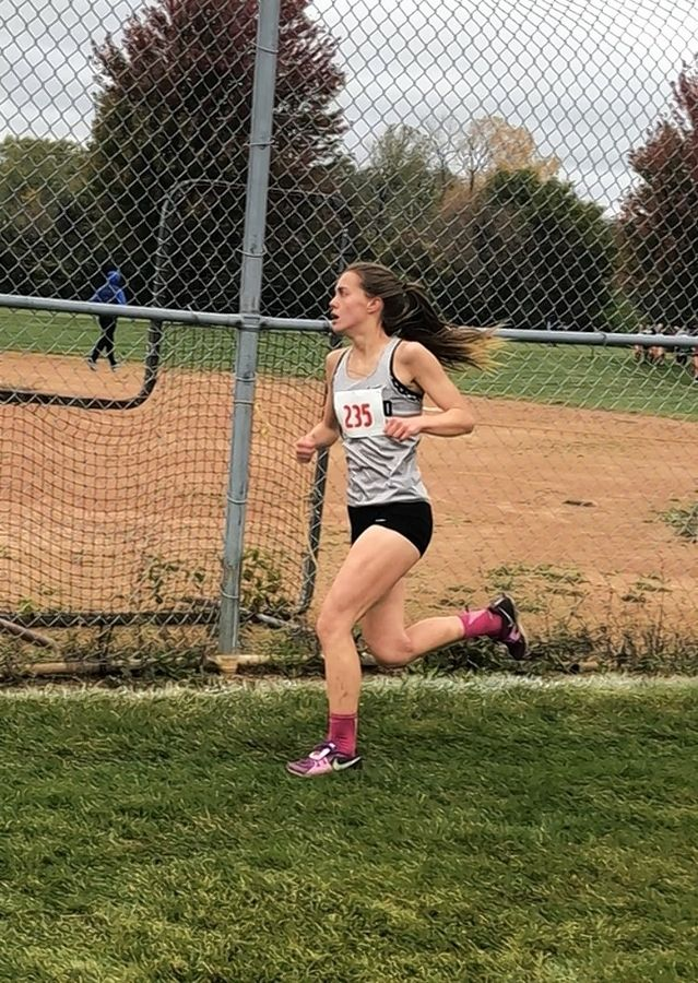 Glenbard East senior Katie Schaefer qualifies for the state cross country meet with a top-10 finish at the Class 3A Lake Park sectional Saturday.