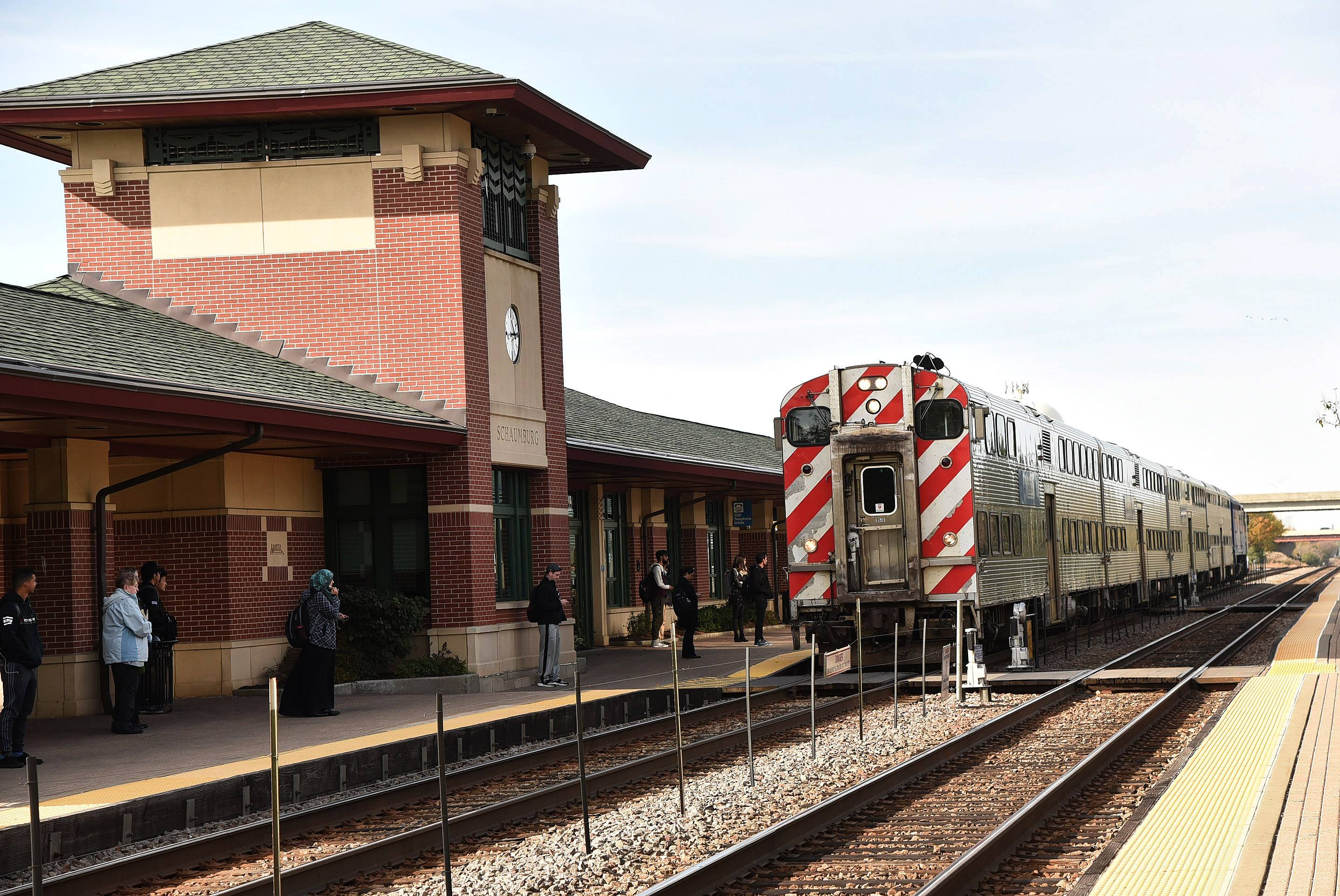 Schaumburg's Metra station on South Springinsguth Road is only one of several that serve local commuters.