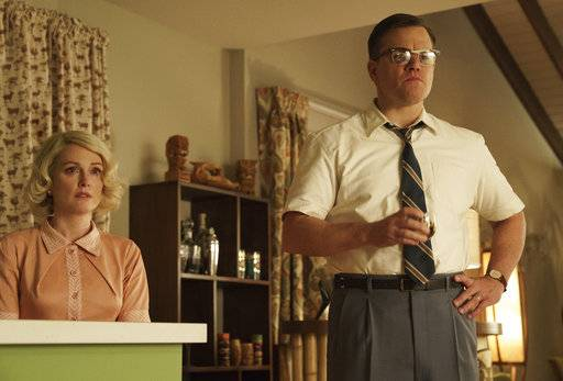 "Julianne Moore and Matt Damon star in ""Suburbicon."""