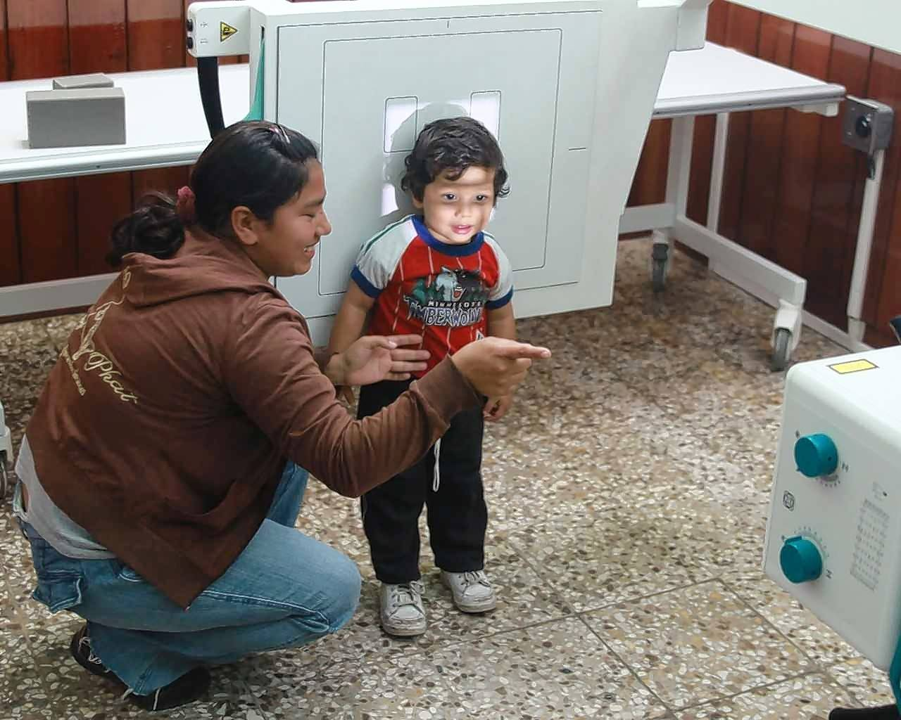 Local residents learned about HealthRays X-ray services during a recent open house at one of the clinics that is now up and running in Guatemala.