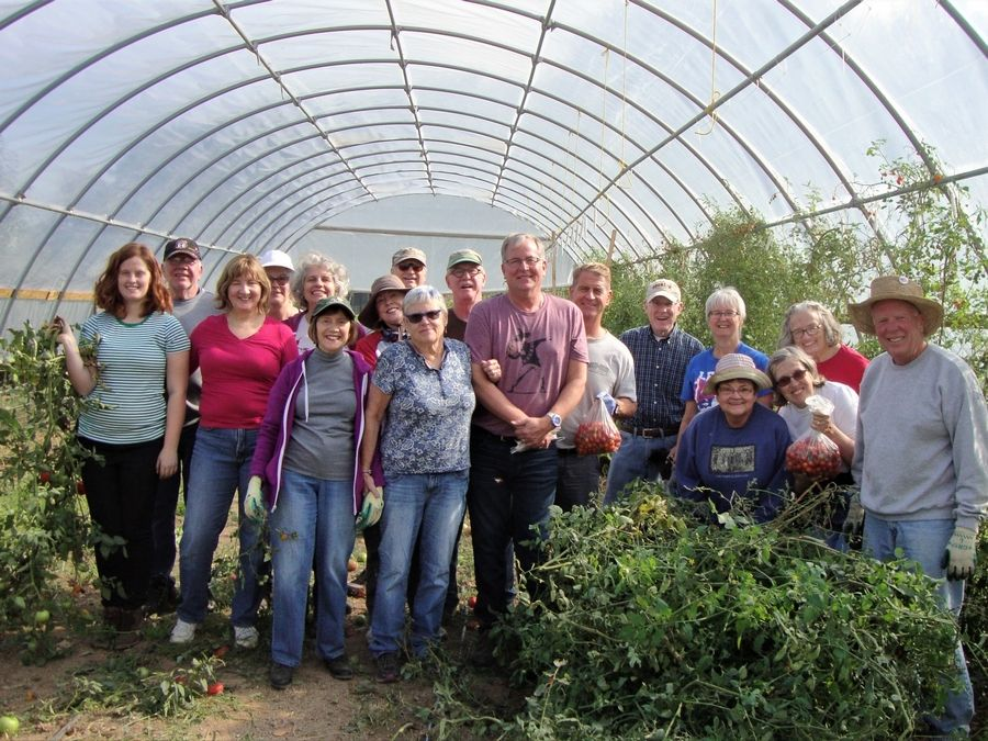 AIM members in a hoop house at Jubilee FarmsLinda.Lyman575@gmail.com
