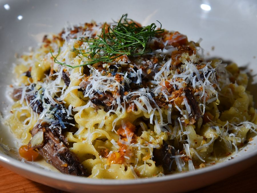 Another tempting dish at Osteria Bigolaro is the mafaldine pasta.
