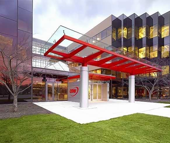 The Tri-State International Office Center, which consists of the Solo Cup and CDW headquarters, has been sold.
