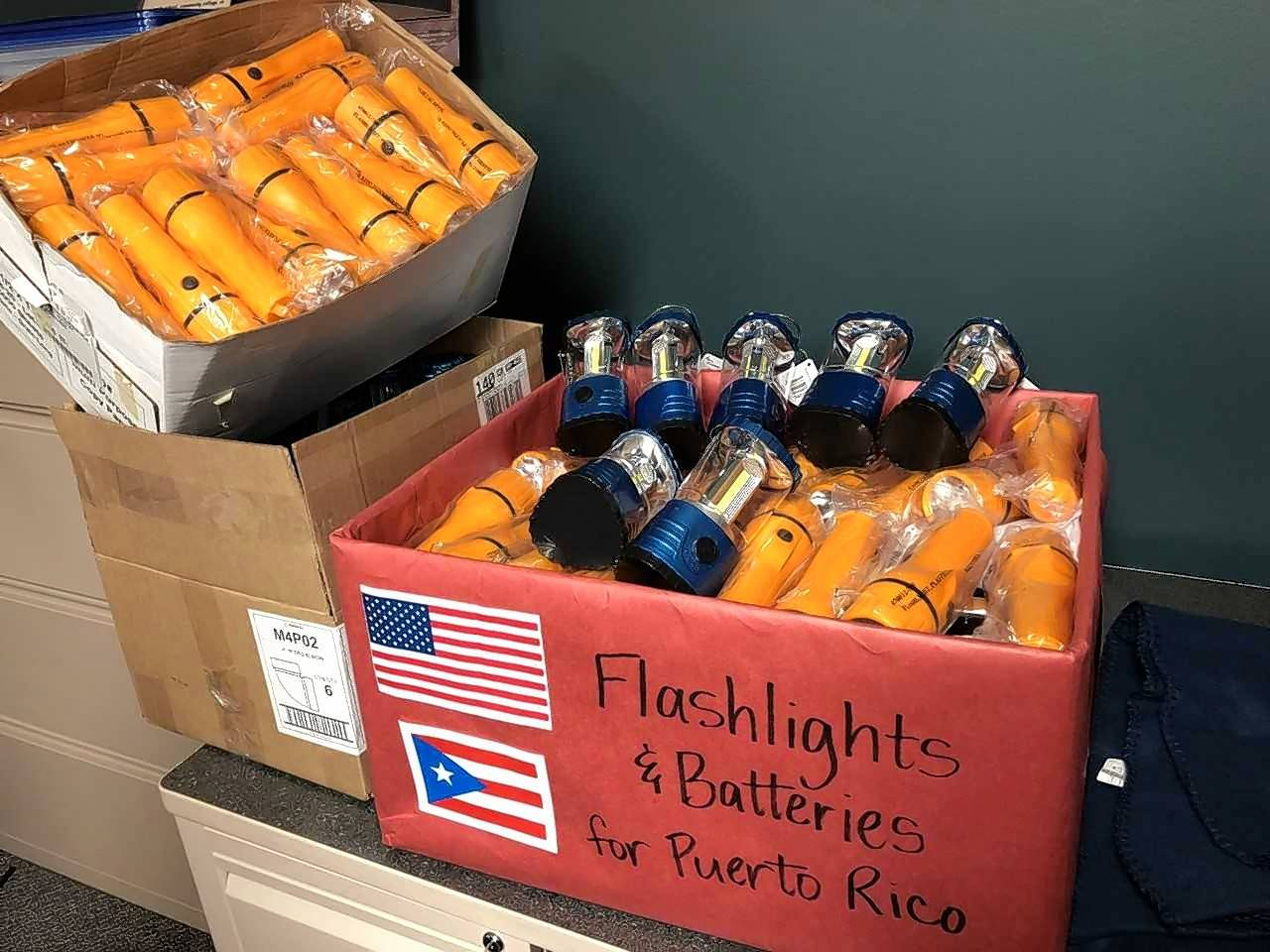 Elgin Area School District U-46 students and staff members have raised more than $7,200 for hurricane and earthquake relief efforts in Puerto Rico and Mexico, including flashlights for Puerto Rico.