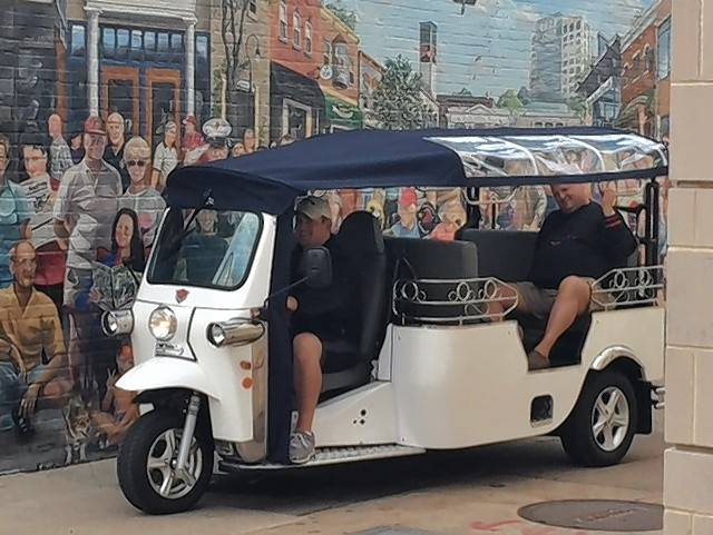 Two tuk-tuks, which are three-wheeled shuttles that can fit six people at once, could come to Arlington Heights. Naperville Tuk Tuk owner Bill Hamik says village officials approached him to ask some questions in recent months.