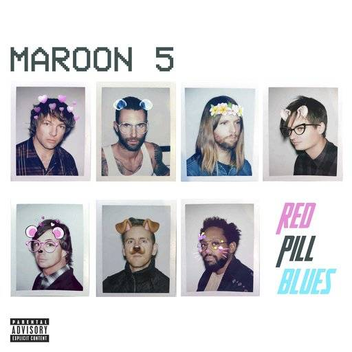 "This cover image released by Interscope Records shows ""Red Pill Blues,"" a release by Maroon 5. (Interscope Records via AP)"