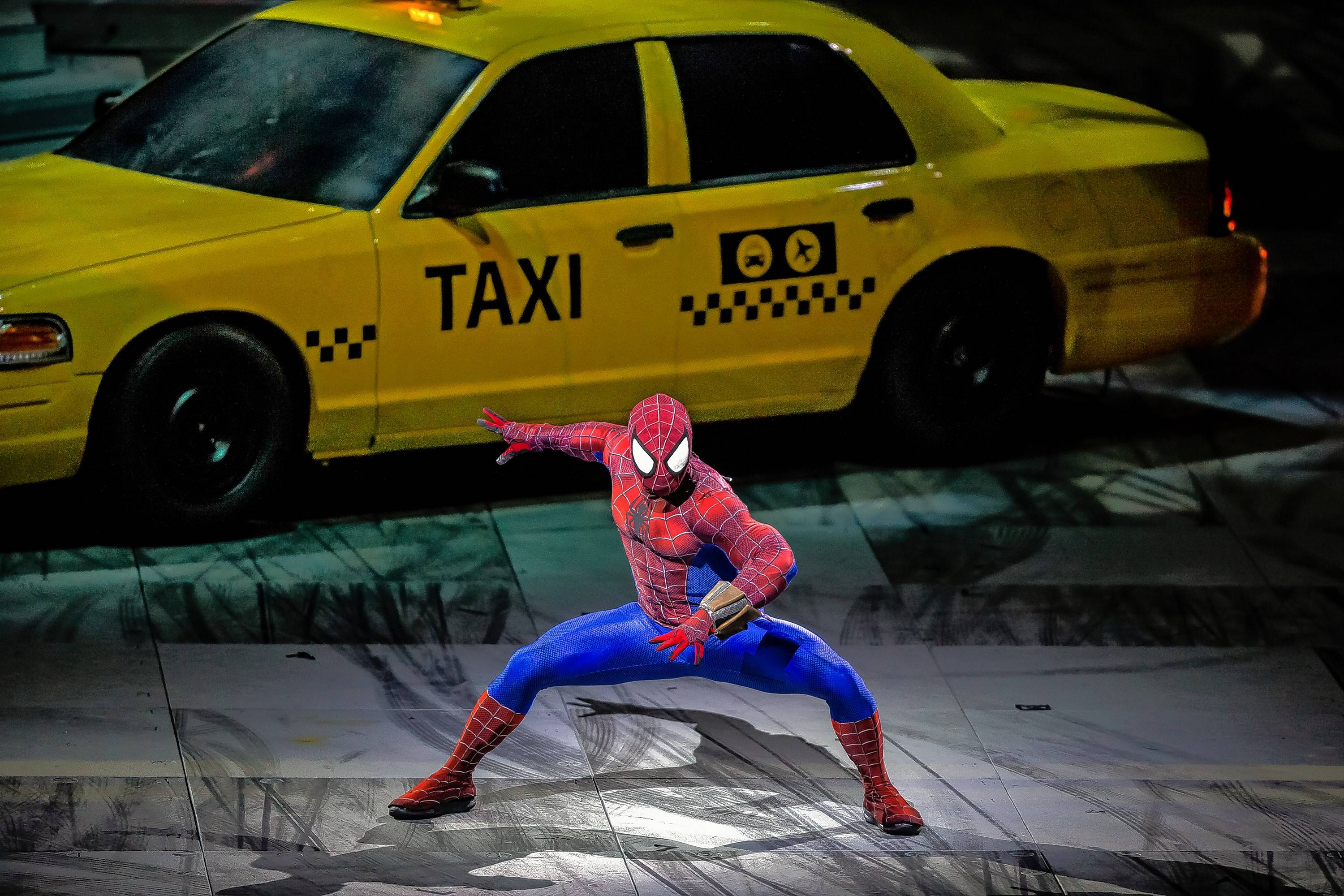 "Spider-Man protects New York in ""Marvel Universe Live! Age of Heroes"" at the Allstate Arena in Rosemont."