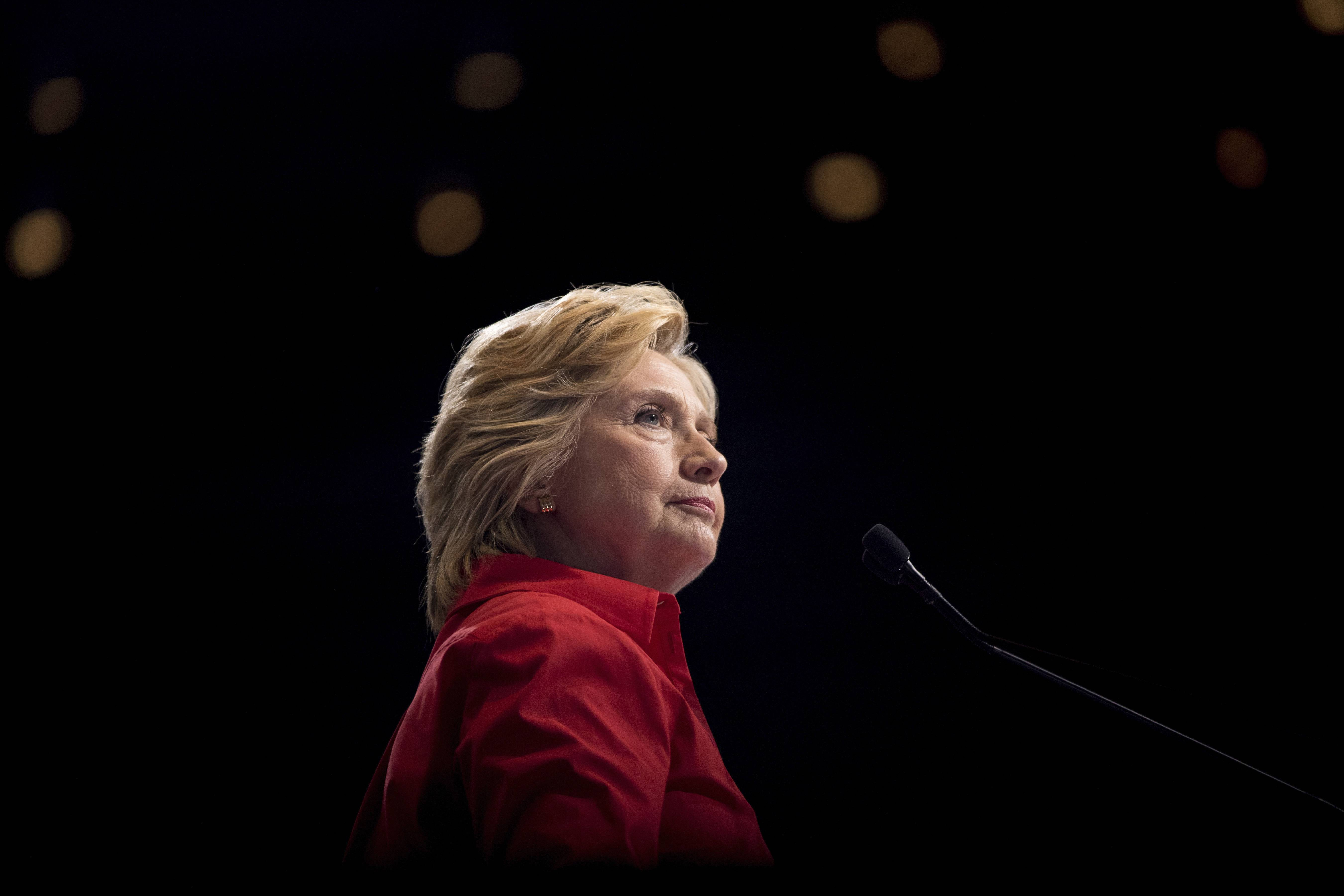 Democratic presidential candidate Hillary Clinton pauses while speaking at a rally in Pittsburgh during a bus tour through the rust belt. In 2016, after repeated attempts to break into various staffers' hillaryclinton.com email accounts, the hacking group known as Fancy Bear took a new tack, targeting top Clinton lieutenants at their personal Gmail addresses.