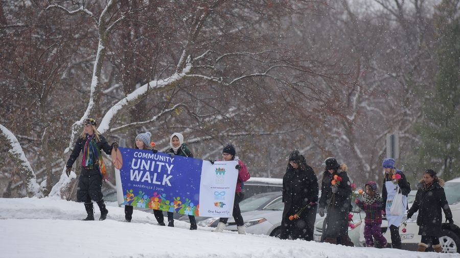 A group called Moms Building Bridges said the need persists for a Community Unity Walk at 3 p.m. Sunday, Dec. 10 in downtown Naperville.