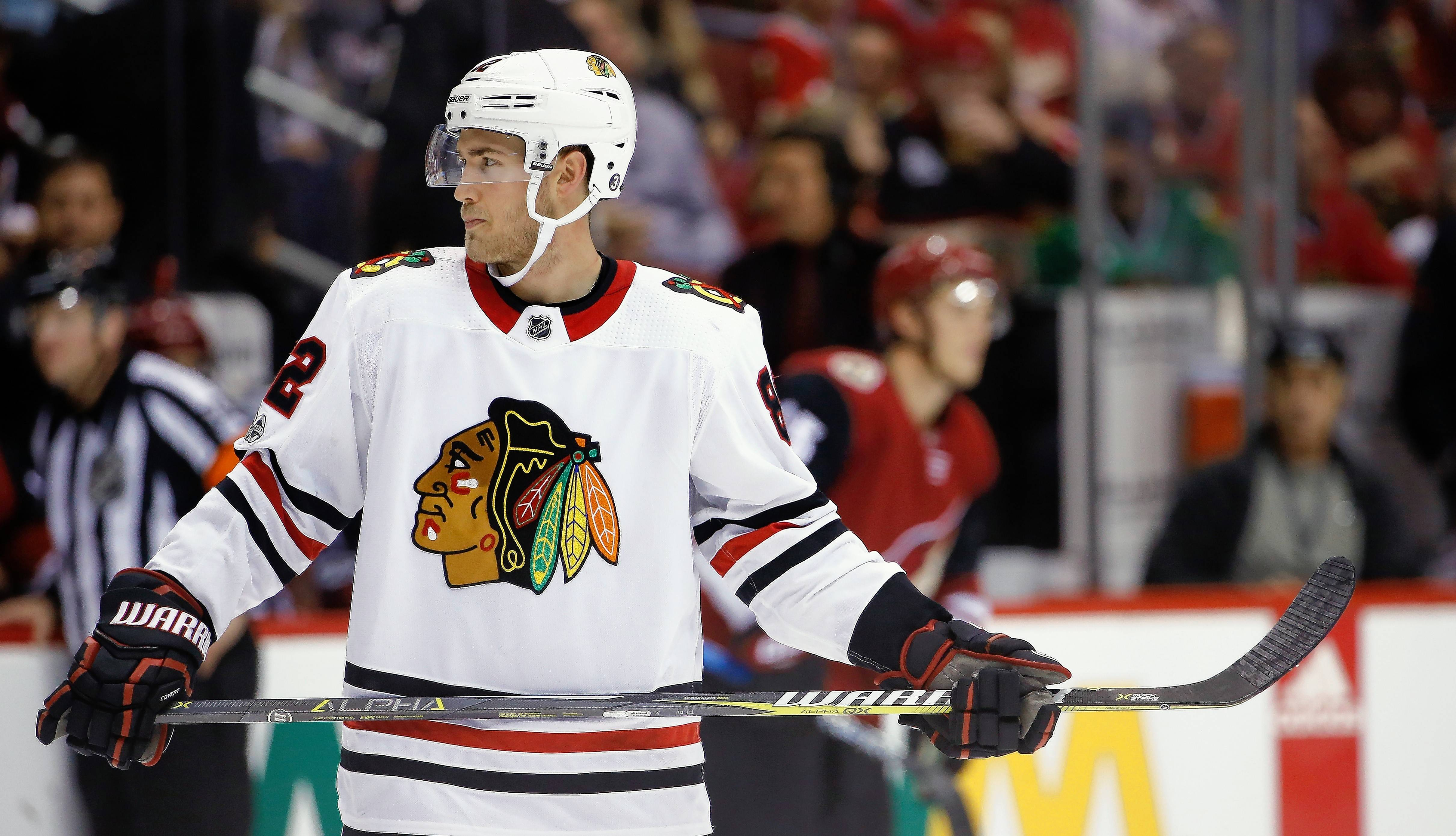 Chicago Blackhawks defenseman Jordan Oesterle loves country music and Mexican restaurants.