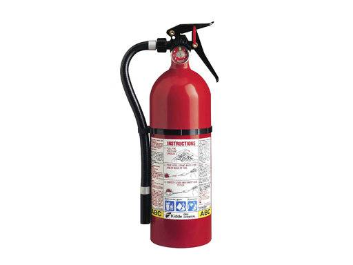 This photo from the U.S. Consumer Product Safety Commission website shows a Kidde plastic handle fire extinguisher. More than 40 million fire extinguishers in the U.S. and Canada are being recalled by Kidde because they might not work. The recall covers 134 models of push-button and plastic-handle extinguishers in the U.S. and Canada made from 1973 through Aug. 15, 2017. It includes models that were previously recalled in March 2009 and February 2015, the commission said Thursday, Nov. 2, 2017. (Courtesy of U.S. Consumer Product Safety Commission via AP)