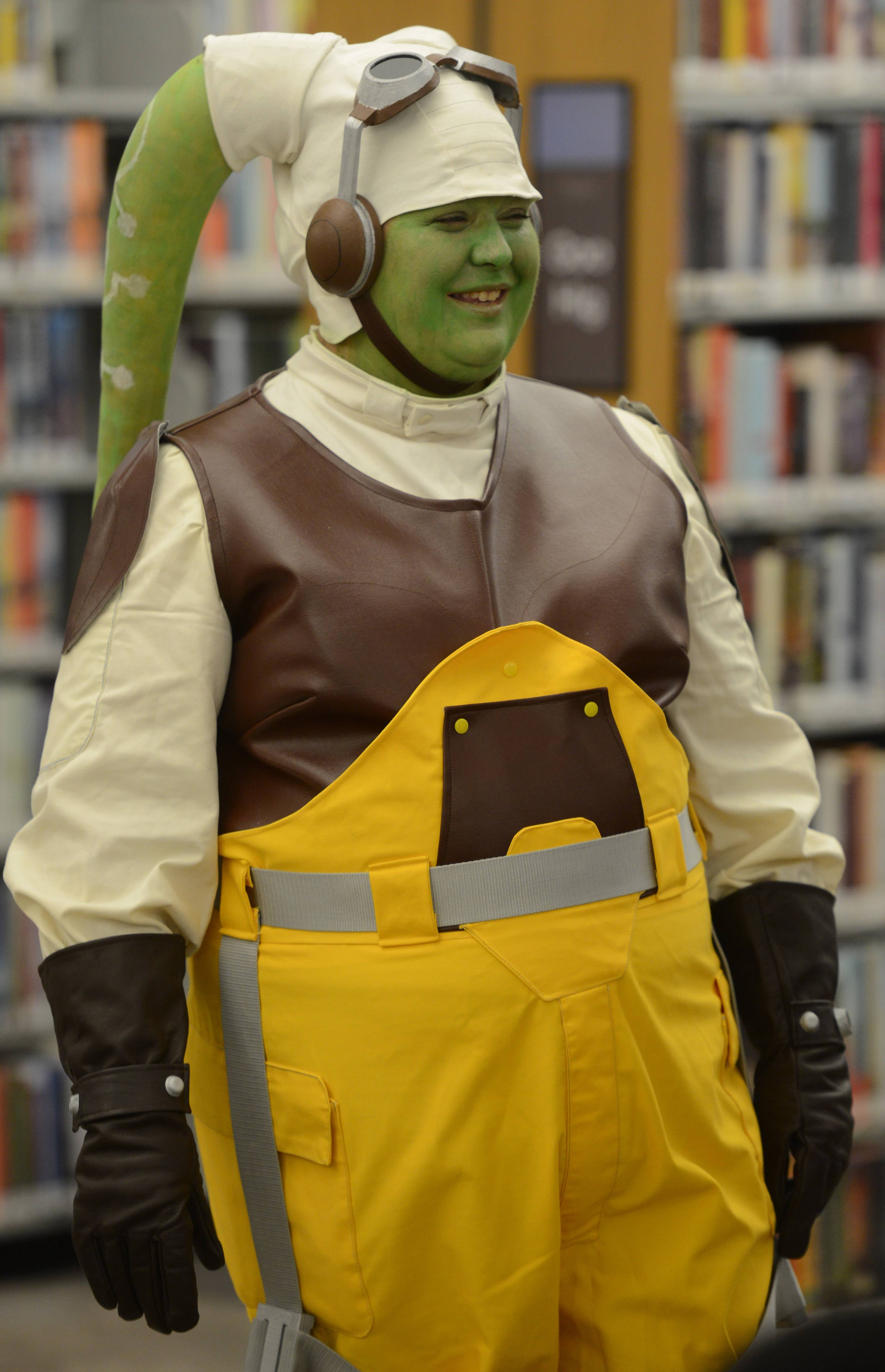 "Megan Murray of Waukegan plays Hera Syndulla from the ""Star Wars Rebels"" animated series during the fourth annual Mini Comic Con at the Vernon Area Public Library in Lincolnshire Saturday."